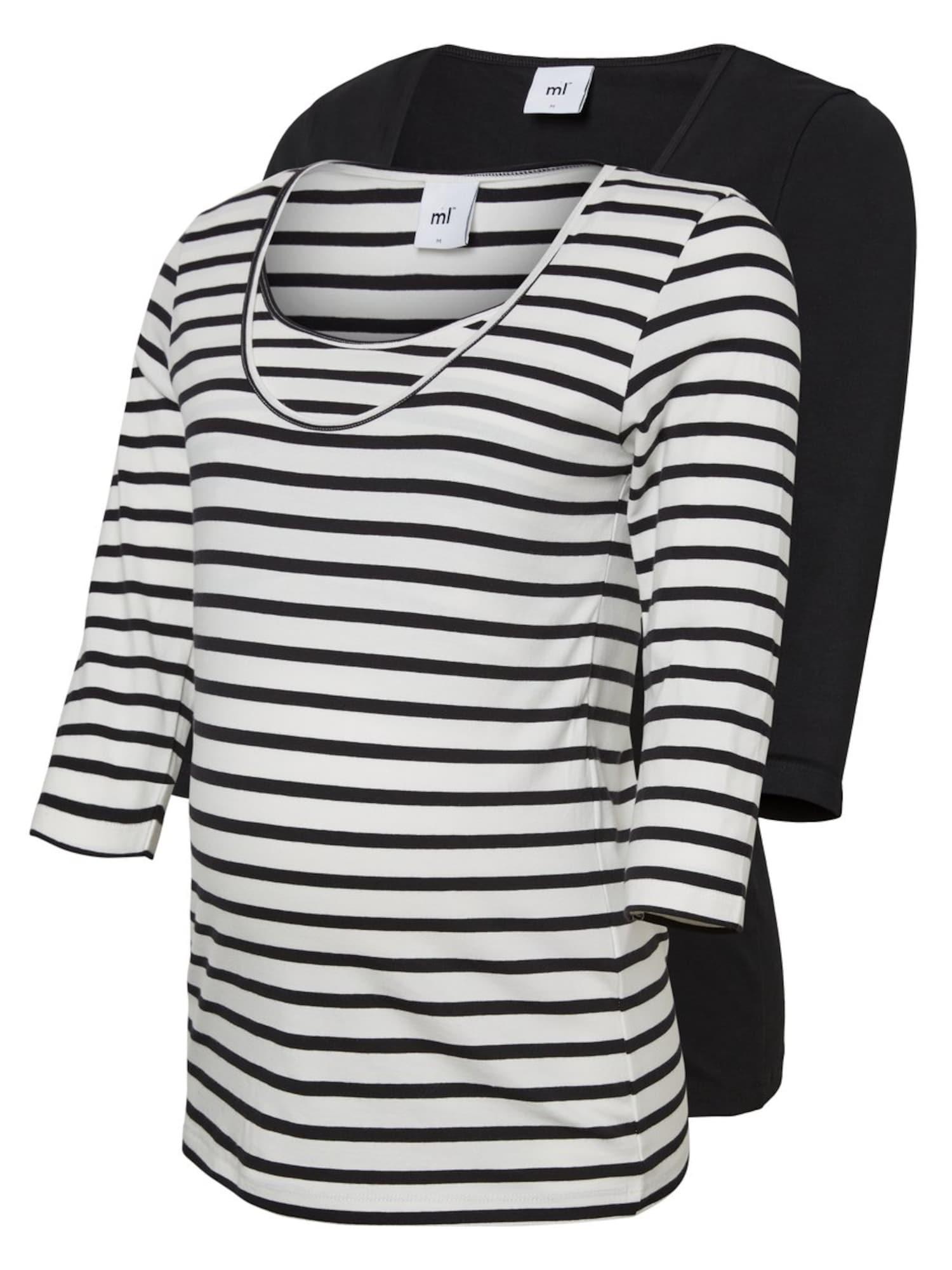 MAMALICIOUS Tričko  biela / čierna