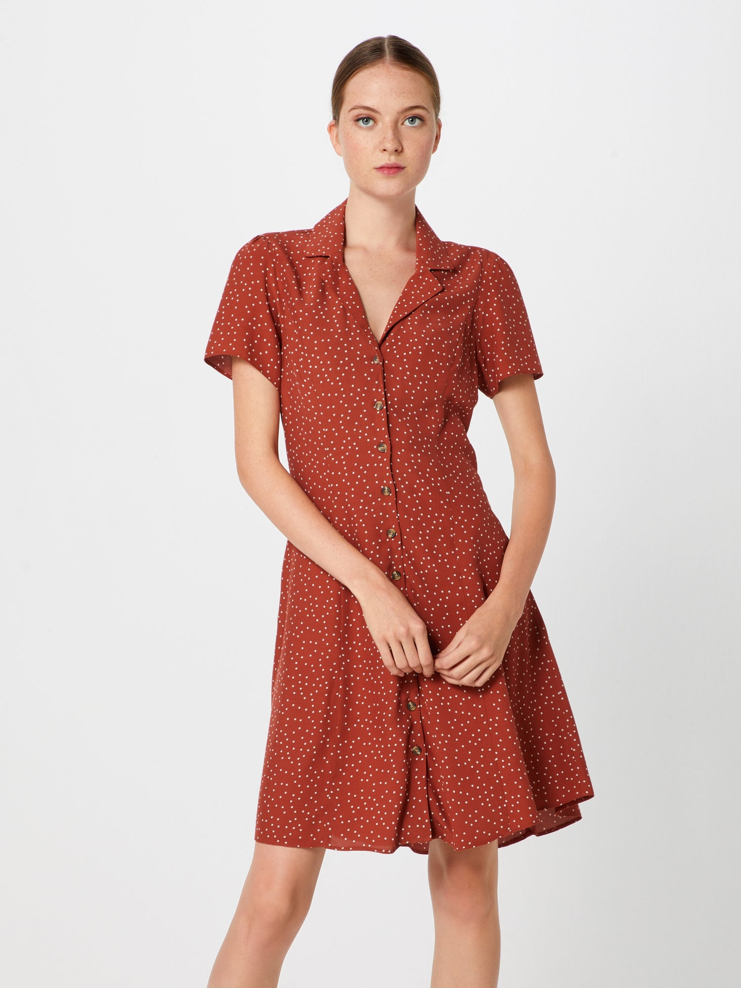 Blousejurk '20.04 WW RHEA DOT COLLAR BTN THRU TEA P180'