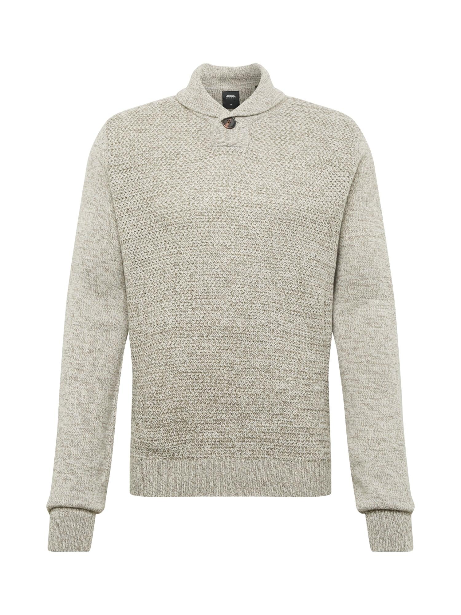 BURTON MENSWEAR LONDON Svetr 'purnell button shawl light grey'  šedá