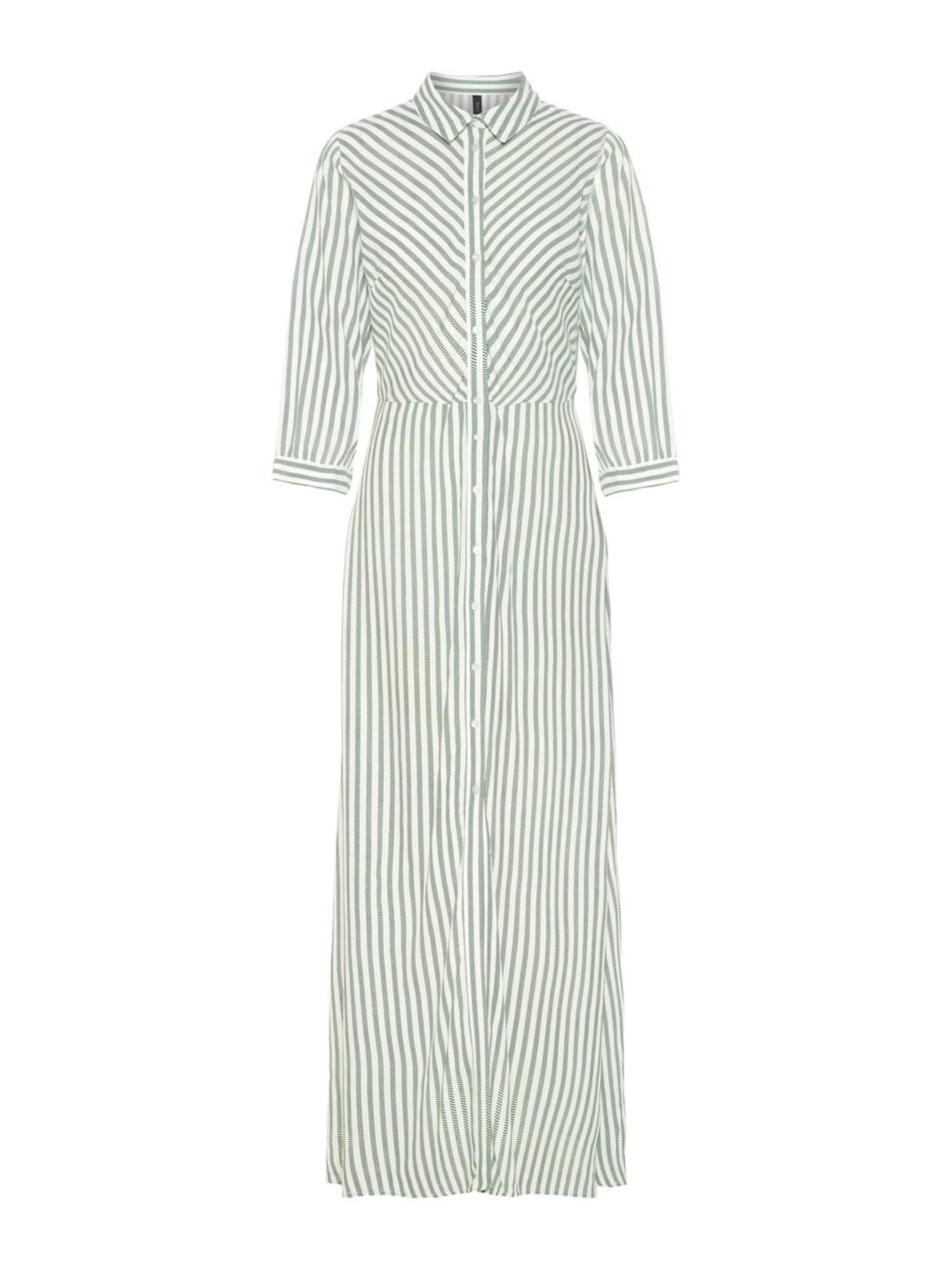 Blusenkleid   Bekleidung > Kleider > Blusenkleider   Grün - Weiß   Y.A.S