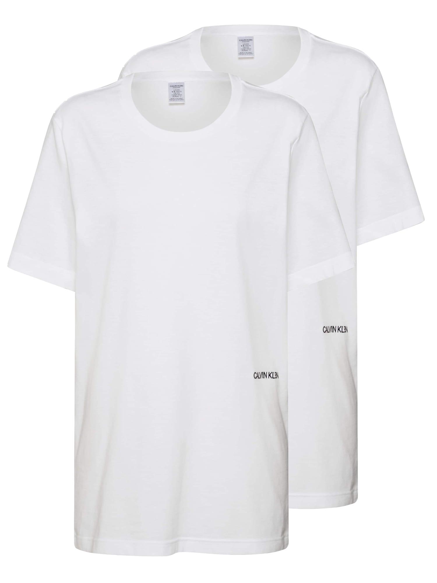 Tričko na spaní SS CREW NECK 2PK bílá Calvin Klein Underwear