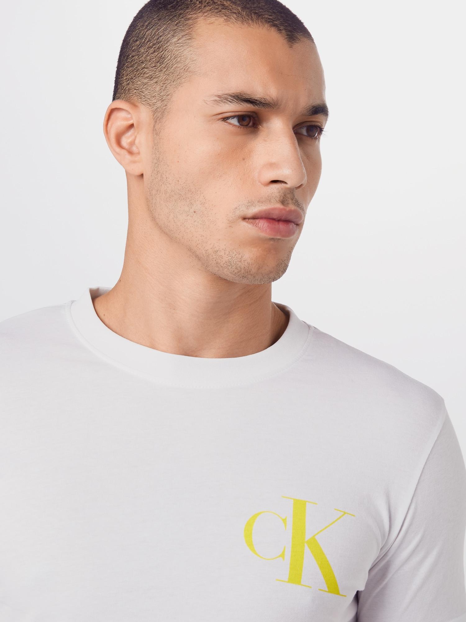 Calvin Klein Jeans Tričko 'INSTIT'  bílá