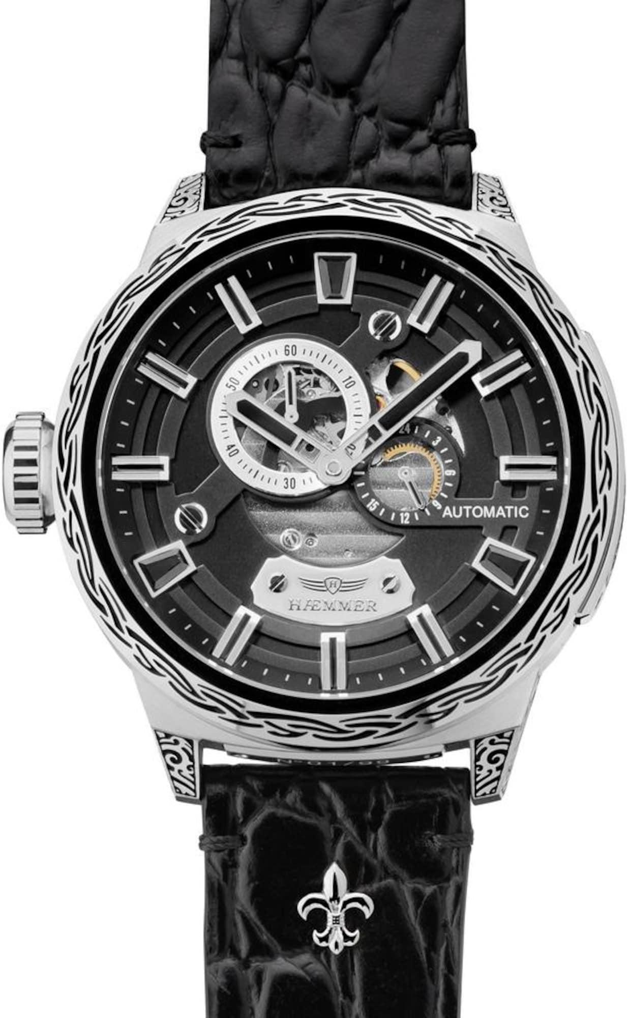 Automatikuhr 'Black Hole, R-100' | Uhren > Automatikuhren | Schwarz - Silber | HAEMMER