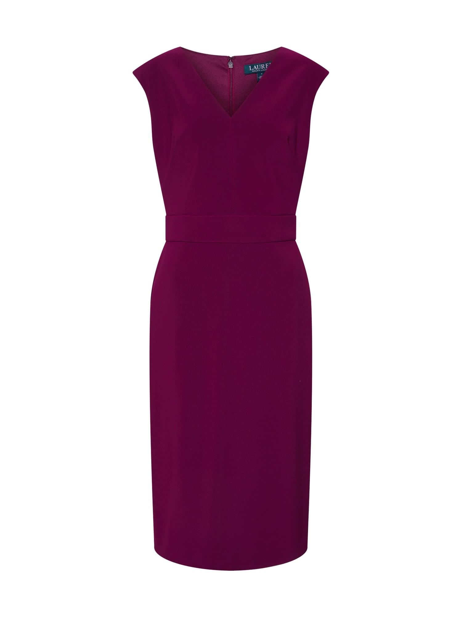 Pouzdrové šaty JANNETTE vínově červená Lauren Ralph Lauren