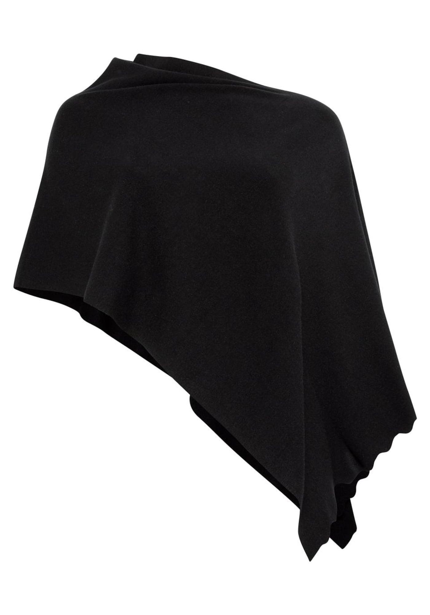 Strickponcho | Bekleidung > Pullover > Ponchos & Capes | Schwarz | SHEEGO