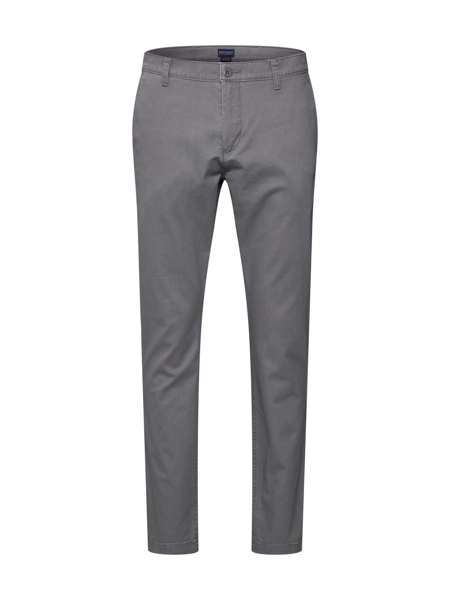 Kalhoty WASHED KHAKI SLIM (TAPERED) - STRETCH TWILL šedá Dockers