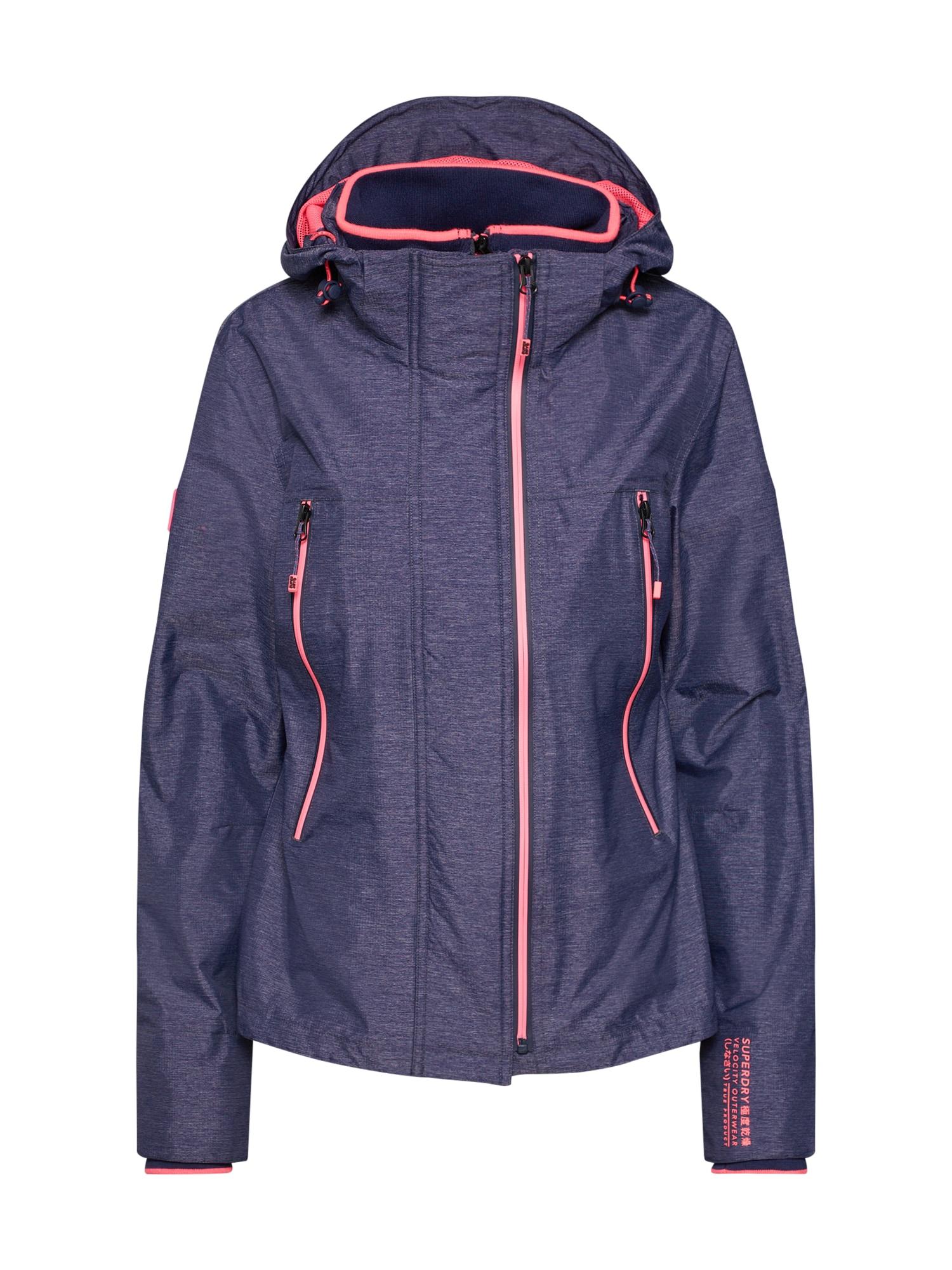 Funkční bunda fialkově modrá pink Superdry