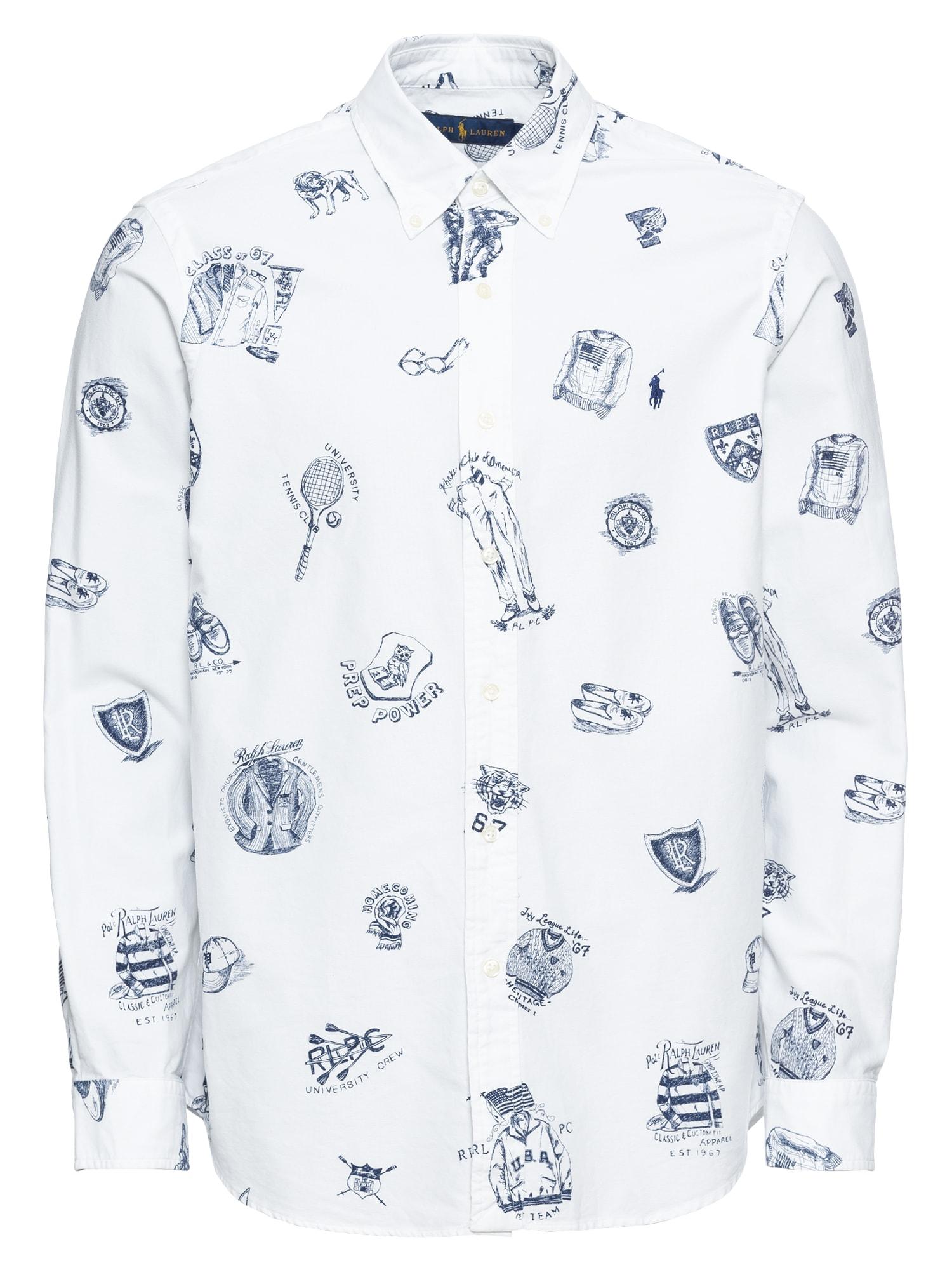Košile BD PPC SPT-LONG SLEEVE-SPORT SHIRT bílá POLO RALPH LAUREN