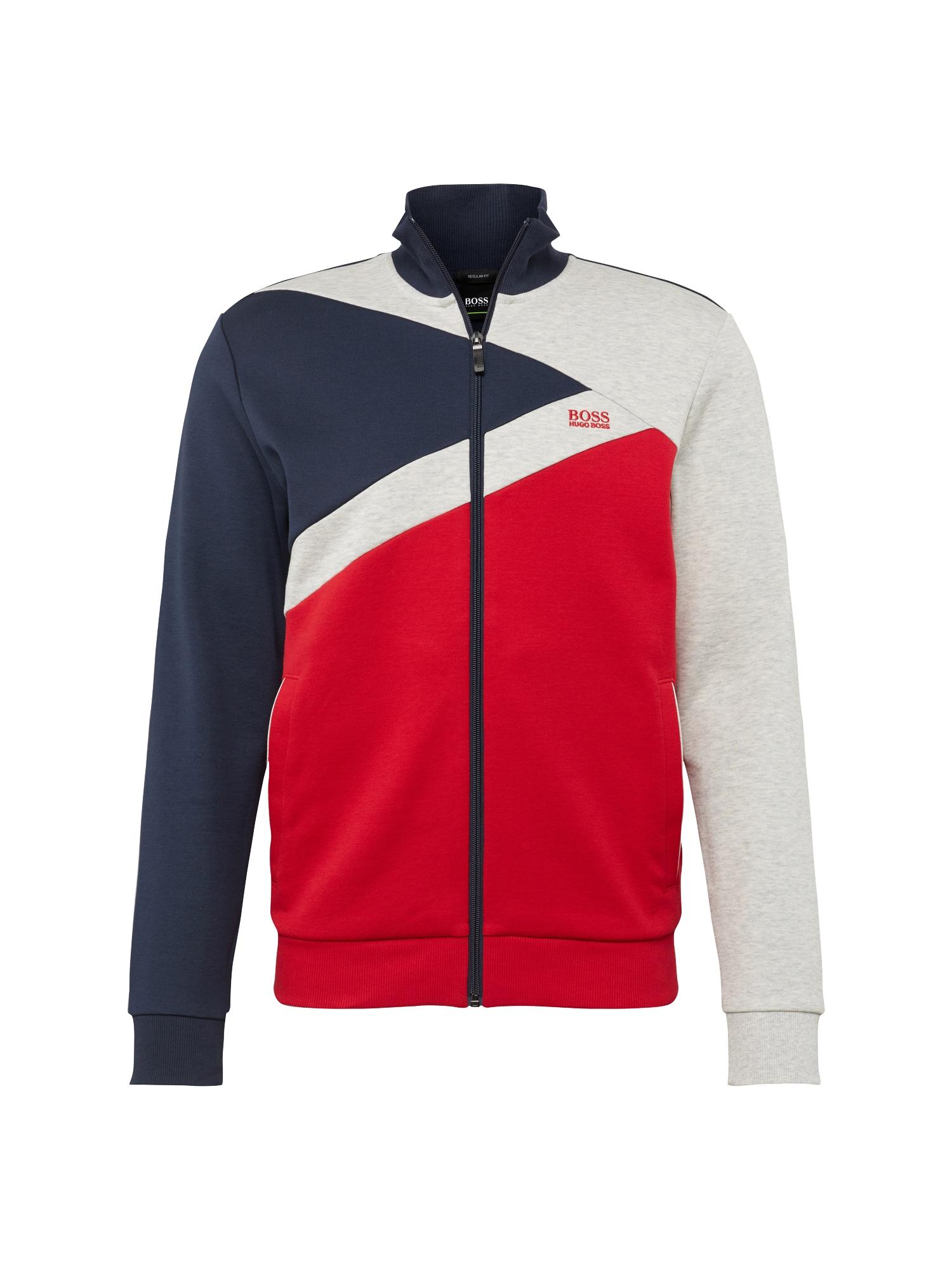 Mikina s kapucí Skaz tmavě modrá červená bílá BOSS