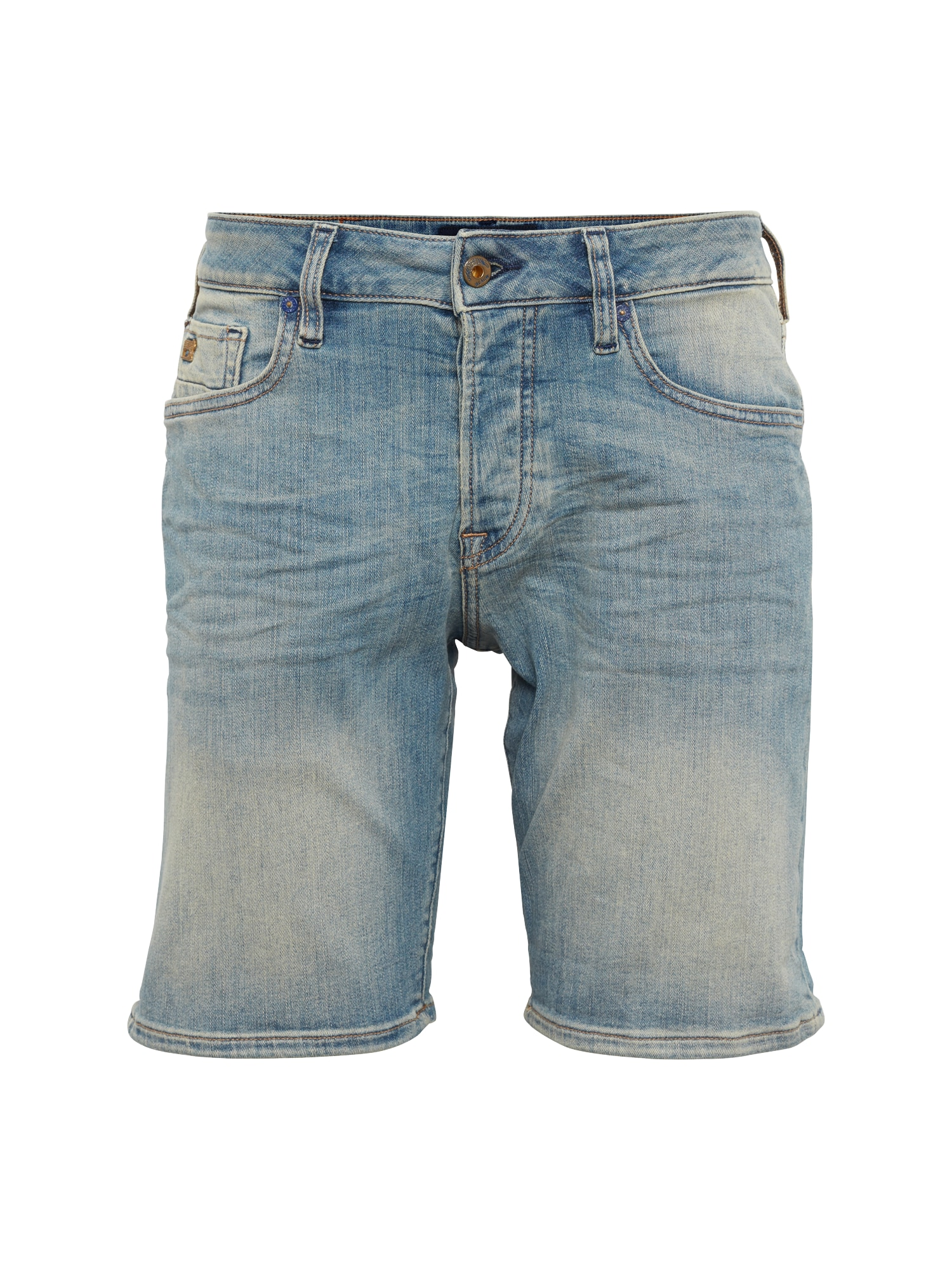 SCOTCH  and  SODA Heren Jeans Ralston shorts Green to green blue denim