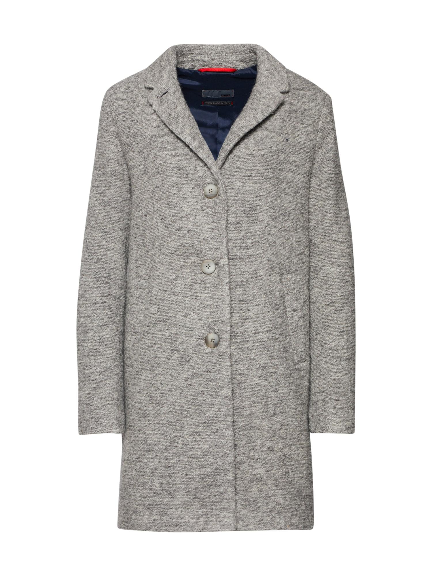 Přechodný kabát CIMIRACLE šedý melír CINQUE