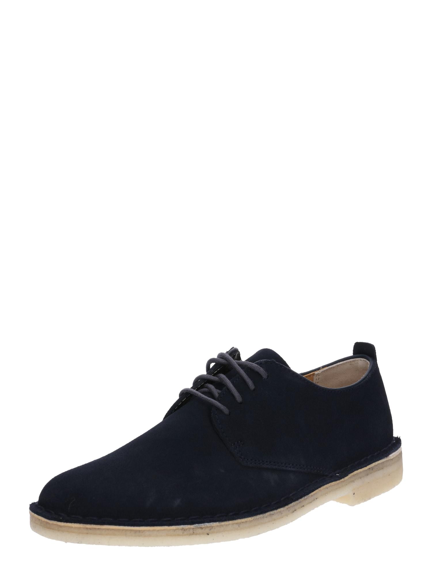 Šněrovací boty Desert London námořnická modř Clarks Originals