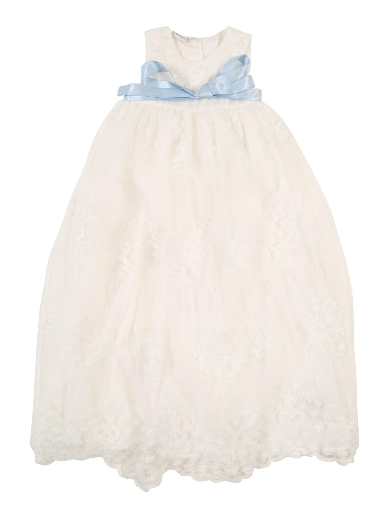 Šaty šedobéžová bílá NAME IT