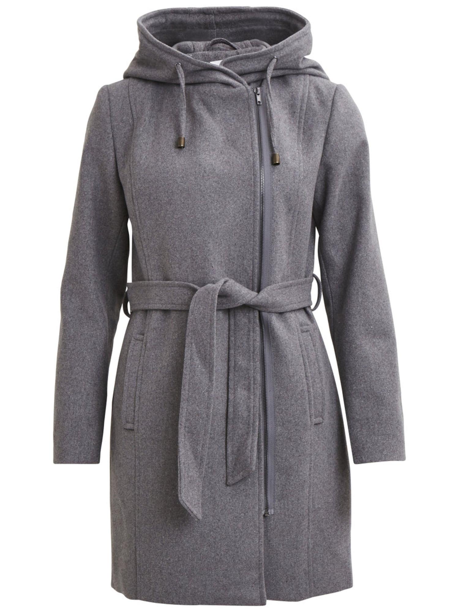 Zimní kabát OBJJolie 86 šedý melír OBJECT