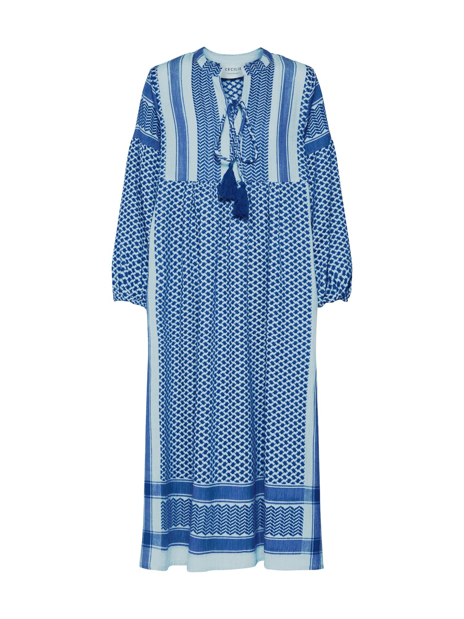 Cecilie Copenhagen Košilové šaty 'Regitze'  modrá / tyrkysová