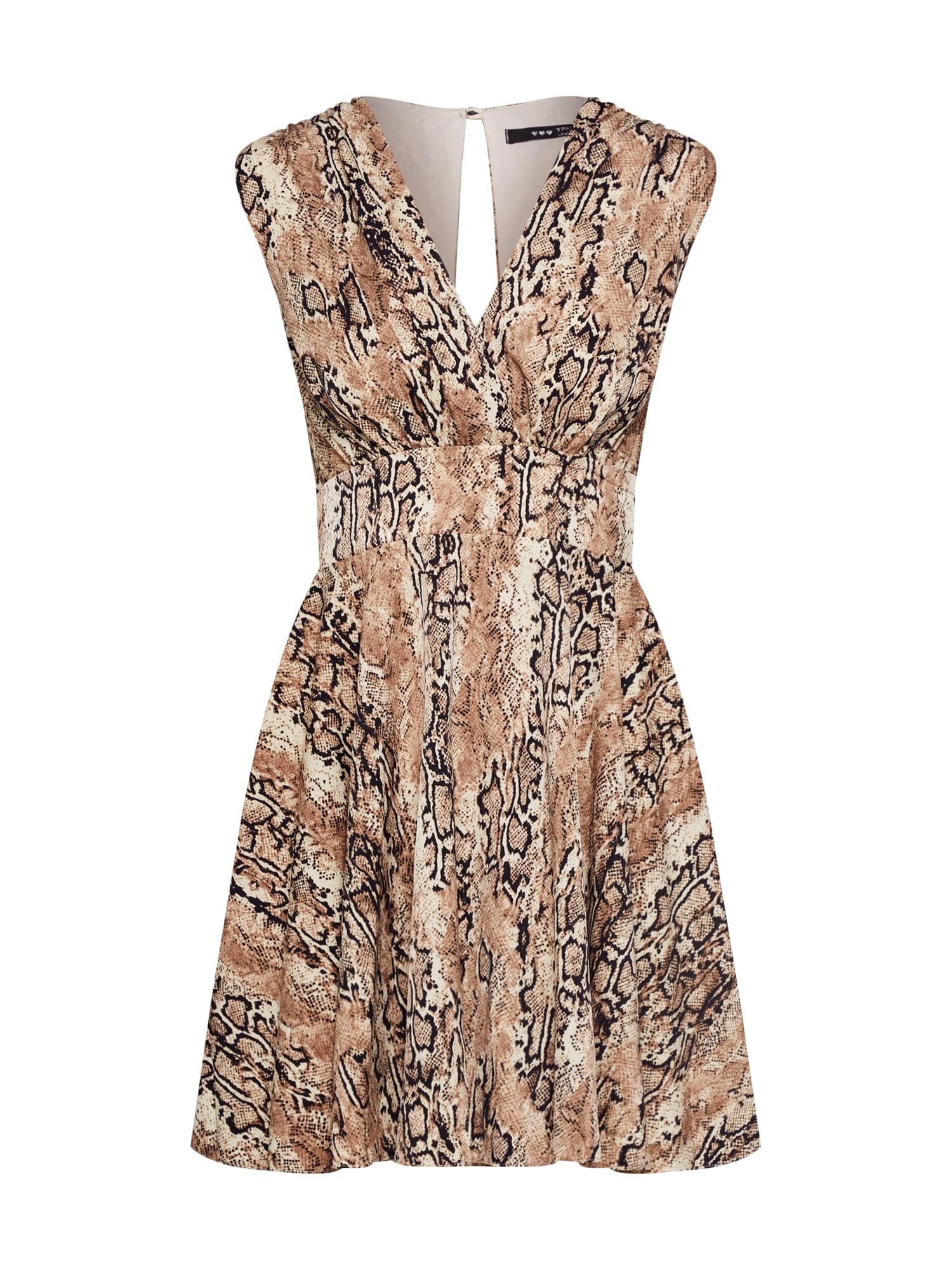 TFNC Sukienka koktajlowa 'Nordi'  beżowy / mieszane kolory