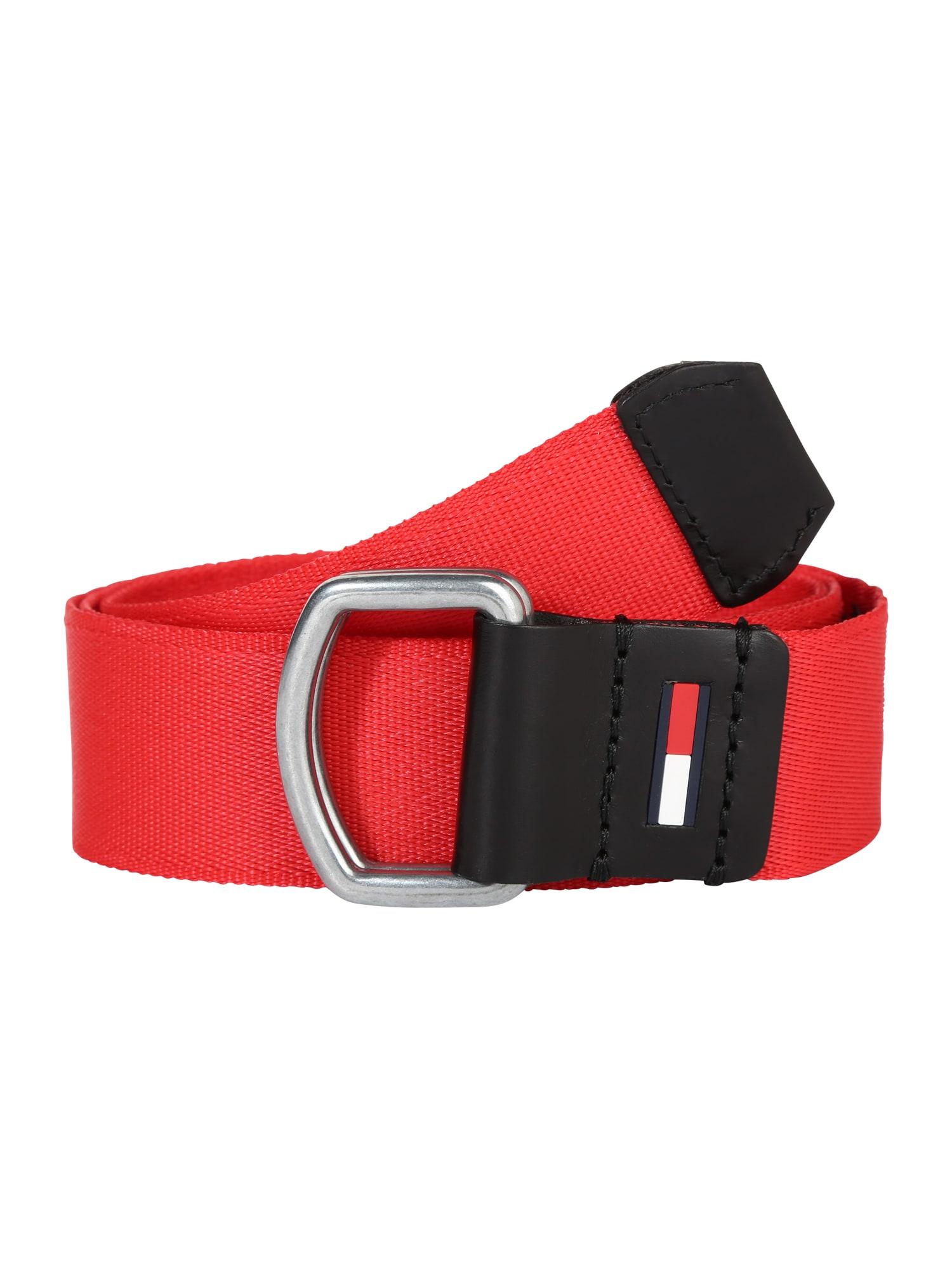 Opasek TJM DRING WEBBING BELT 3.5 červená Tommy Jeans