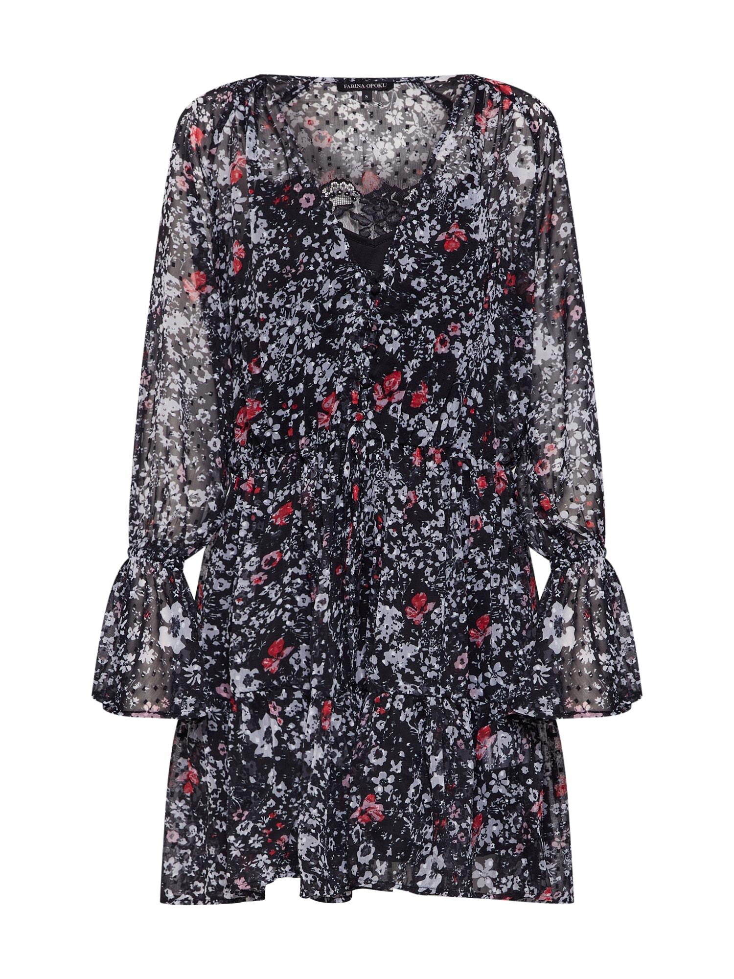 Letní šaty Lanee černá Farina Opoku