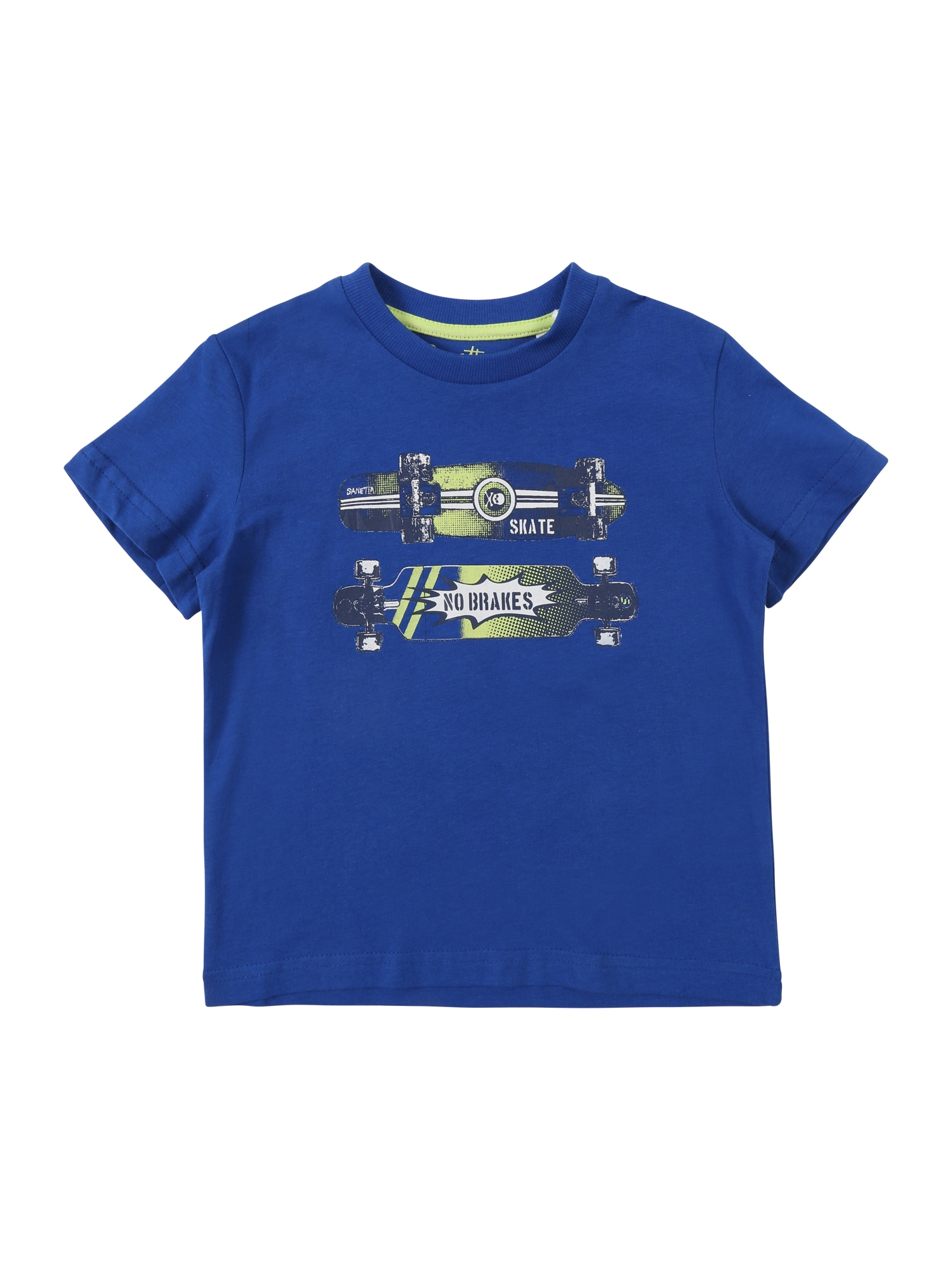 Tričko modrá tmavě modrá jablko Sanetta Kidswear