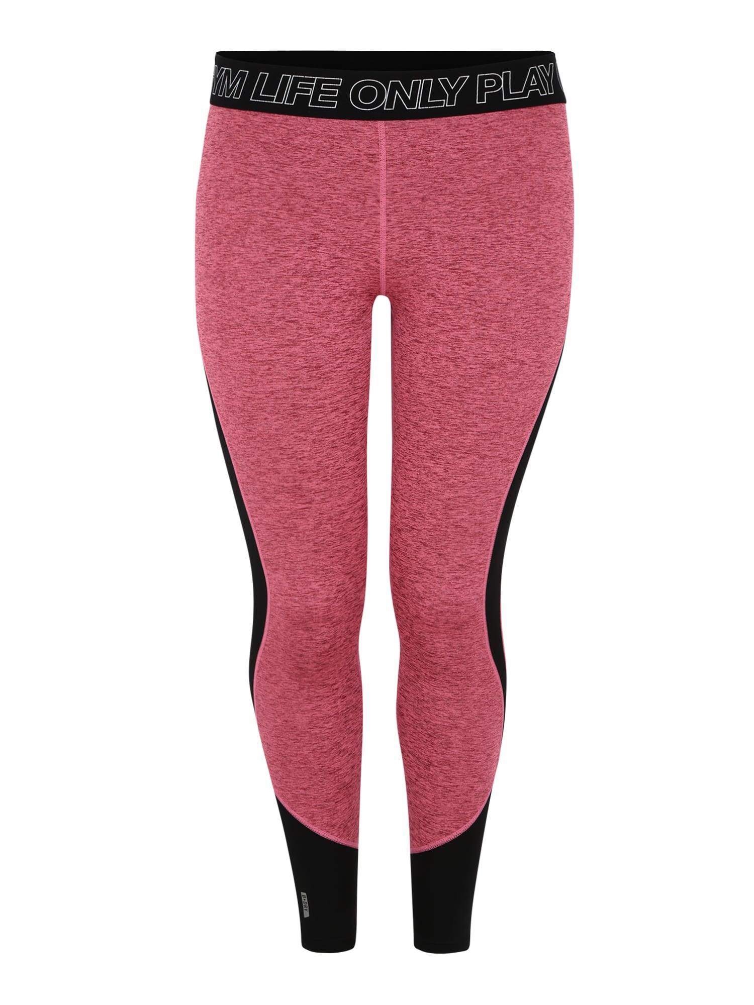 Sportovní kalhoty JACEY pink černá Only Play Curvy