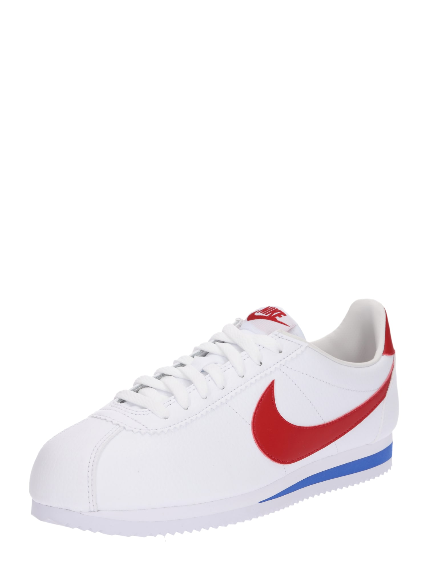 Nike Sportswear, Heren Sneakers laag 'Classic Cortez Leather', rood / wit