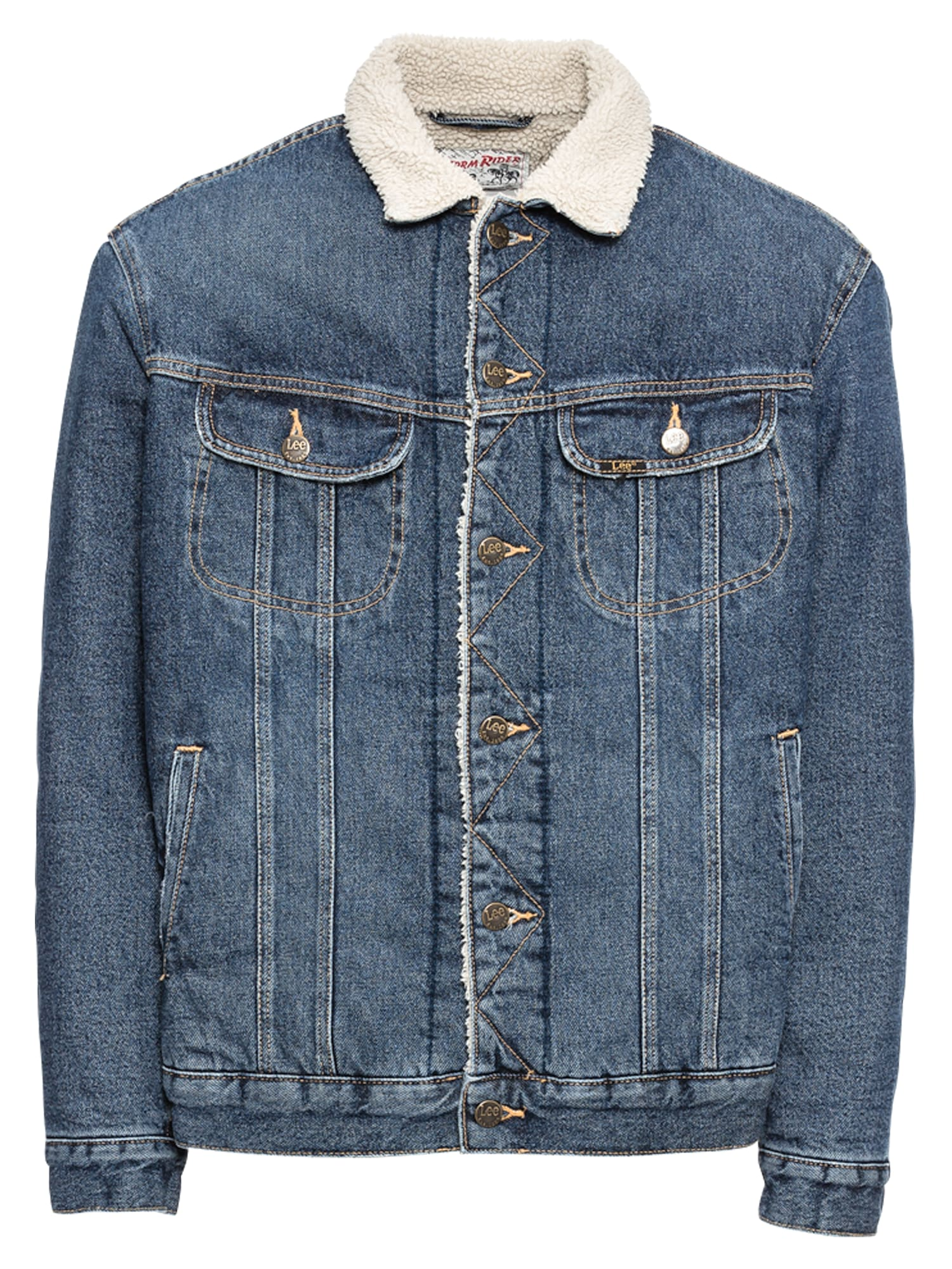Lee, Heren Tussenjas 'SHERPA JACKET', blauw denim