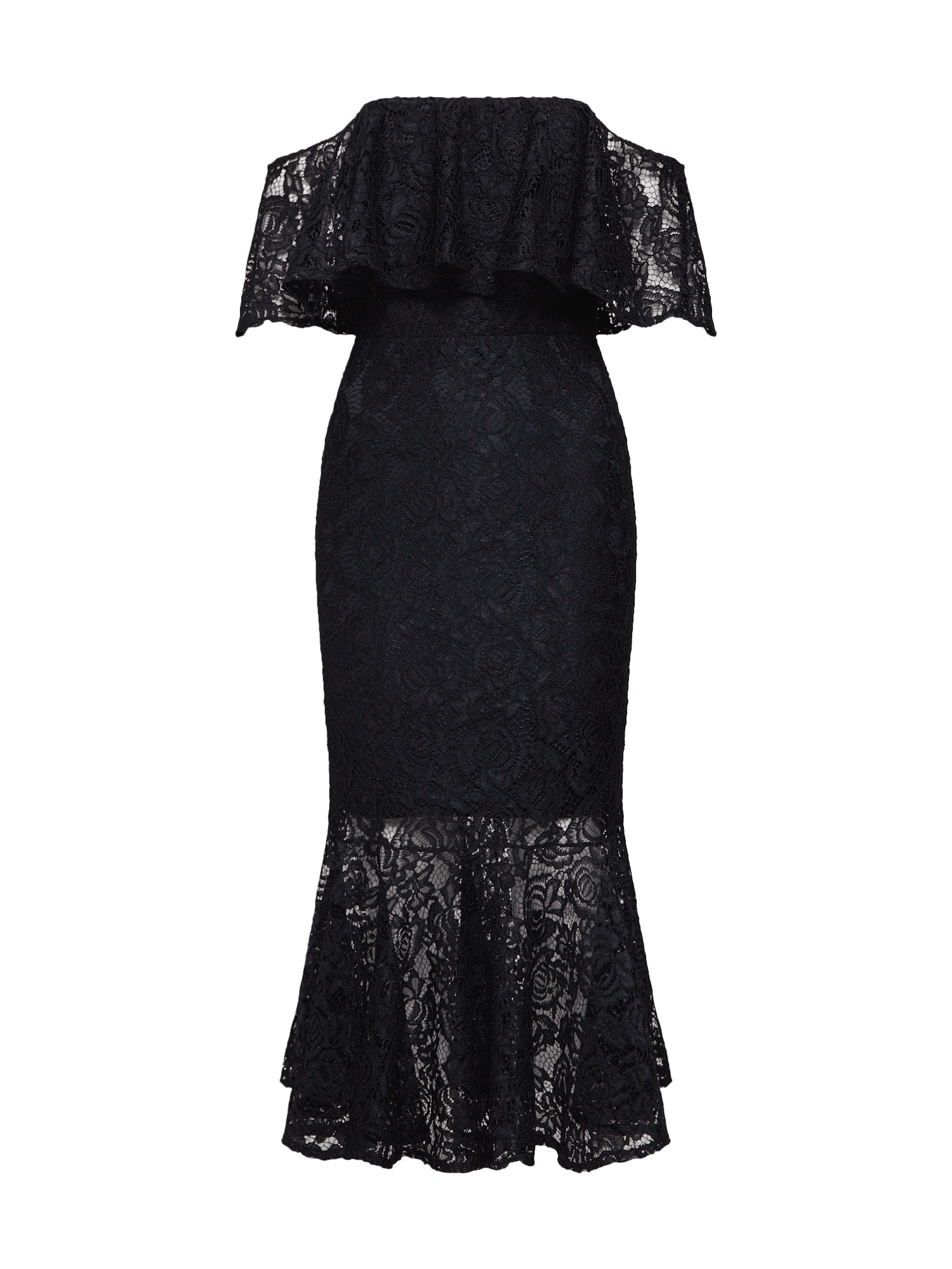 Koktejlové šaty VINNIE MIDI LACE DRESS černá TFNC