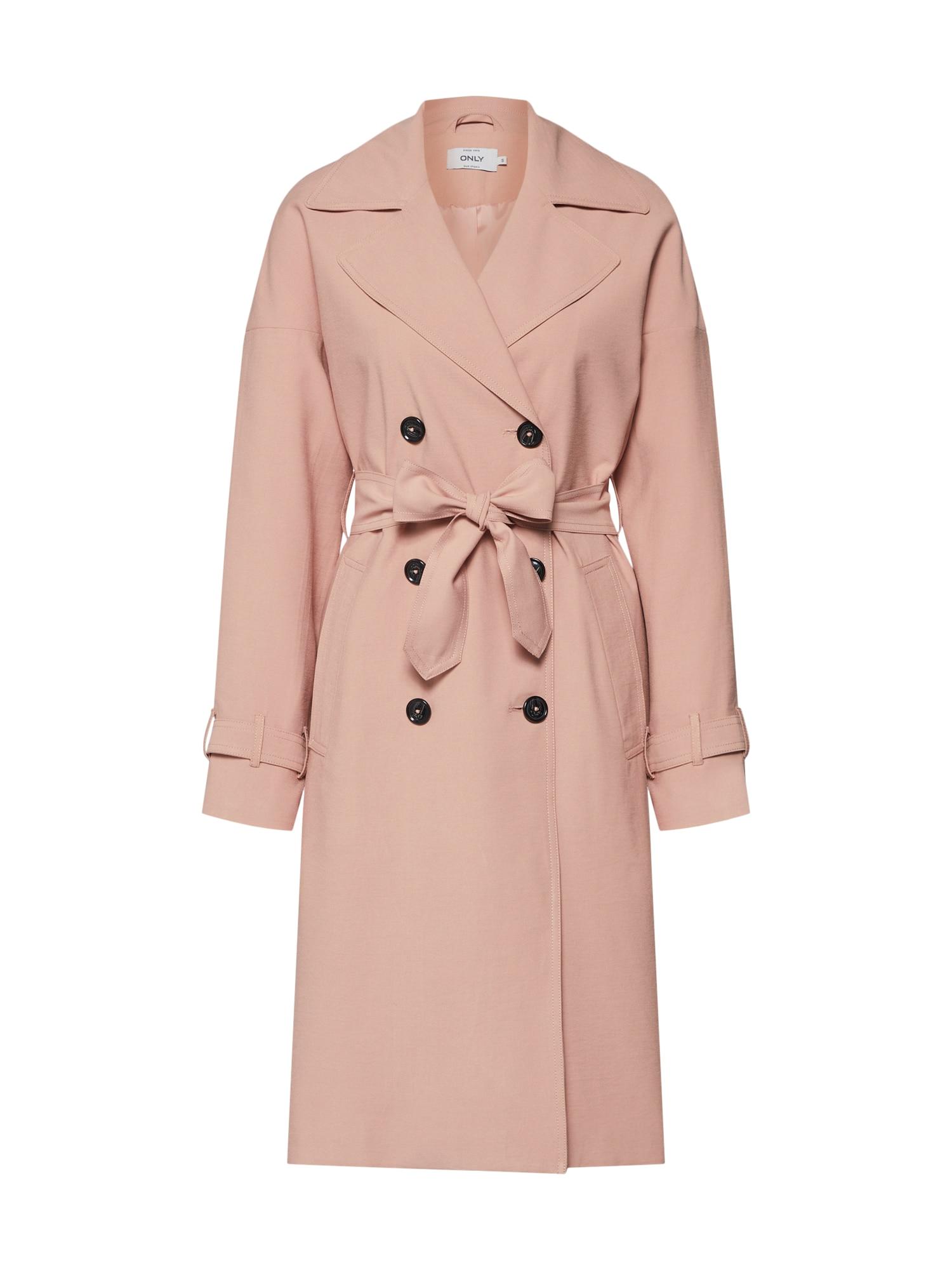 Přechodný kabát EMILIA růžová ONLY