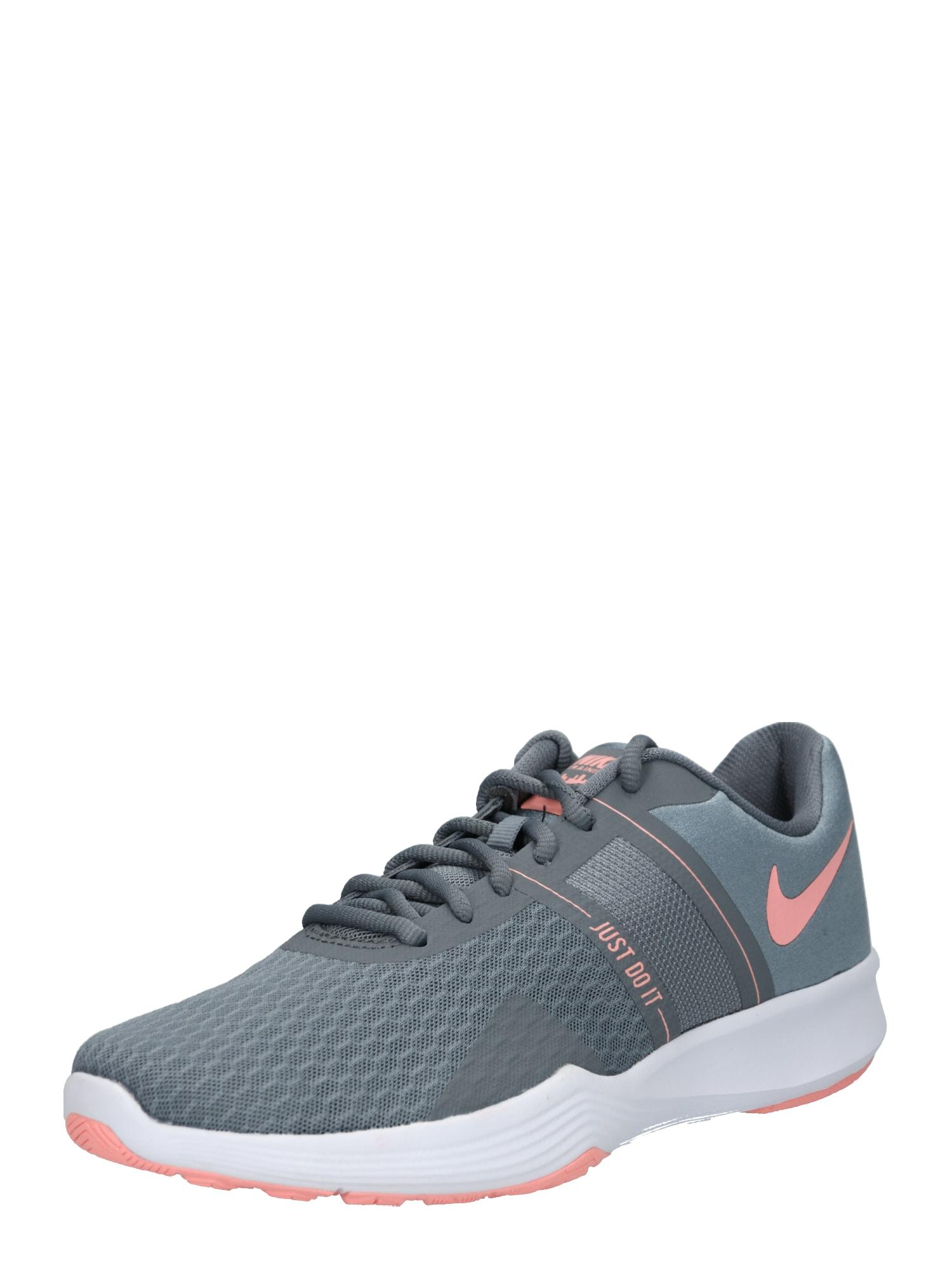 Sportovní boty City Trainer 2 tmavě šedá růžová NIKE