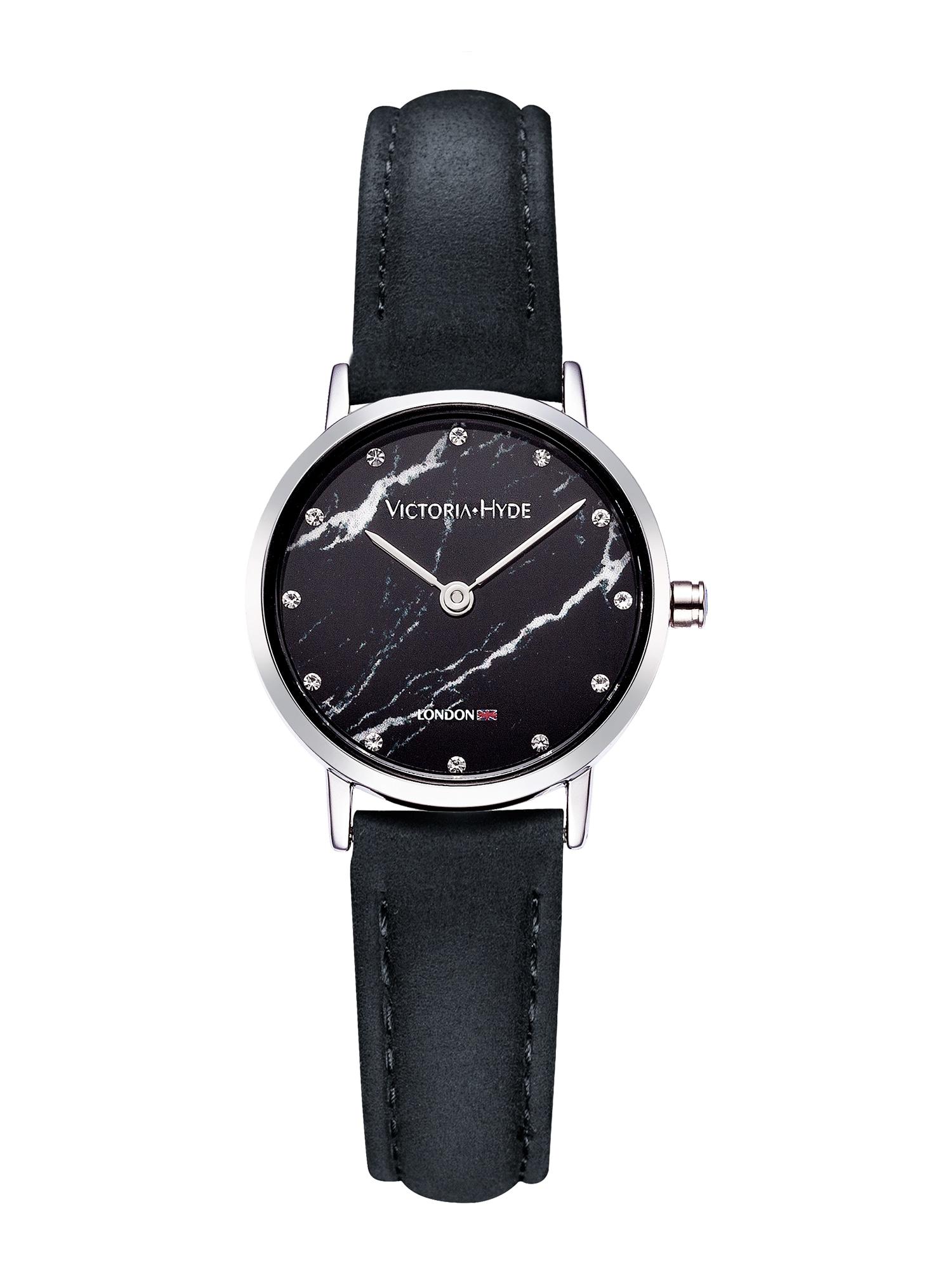 Armbanduhr | Uhren | Schwarz - Silber | Victoria Hyde