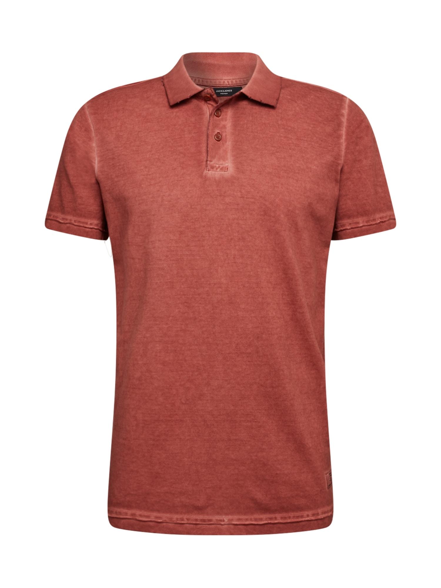 JACK & JONES Tričko  rezavě červená