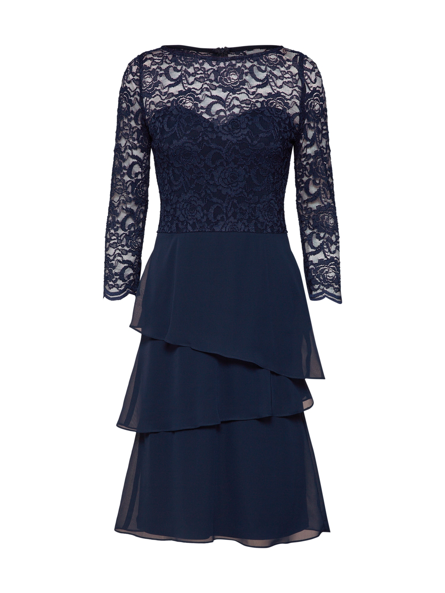 Swing Cocktailjurk 'Cocktailkleid mit Spitzenoberteil' navy
