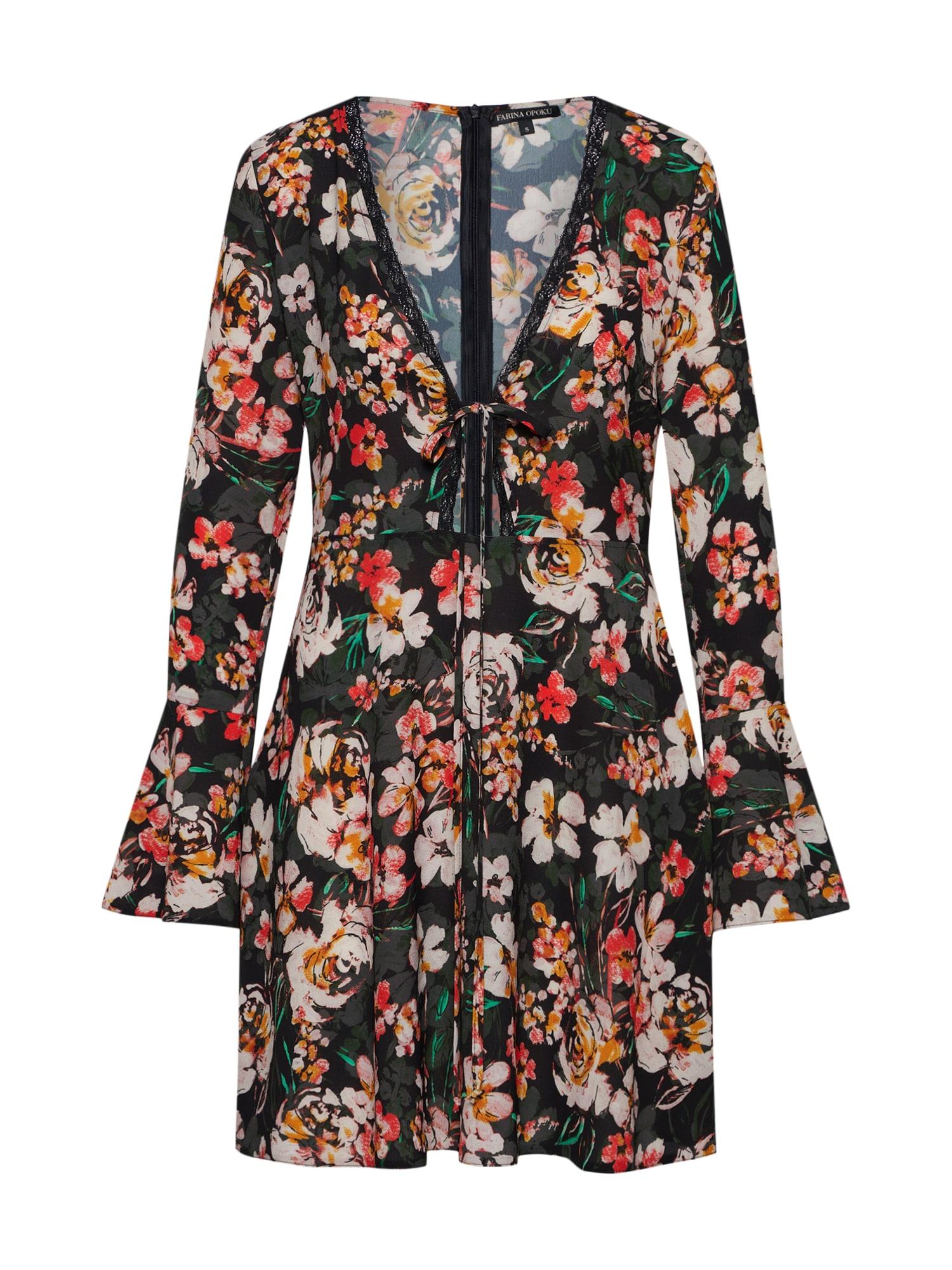 Šaty PAMEYLA mix barev černá Farina Opoku