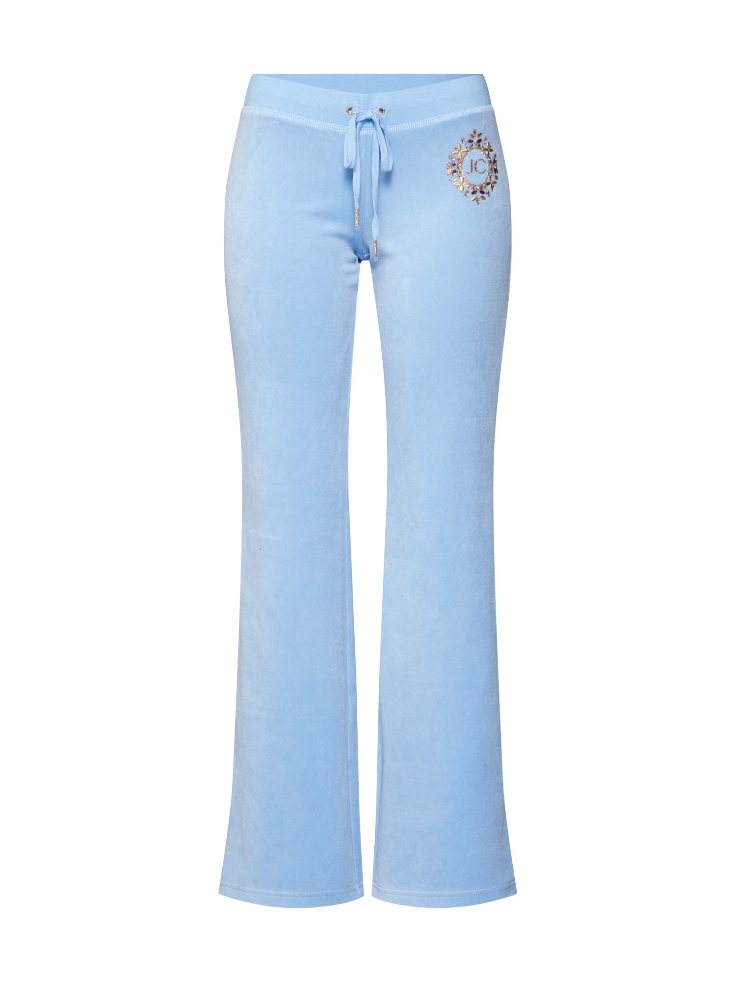 Kalhoty modrá zlatá Juicy Couture Black Label
