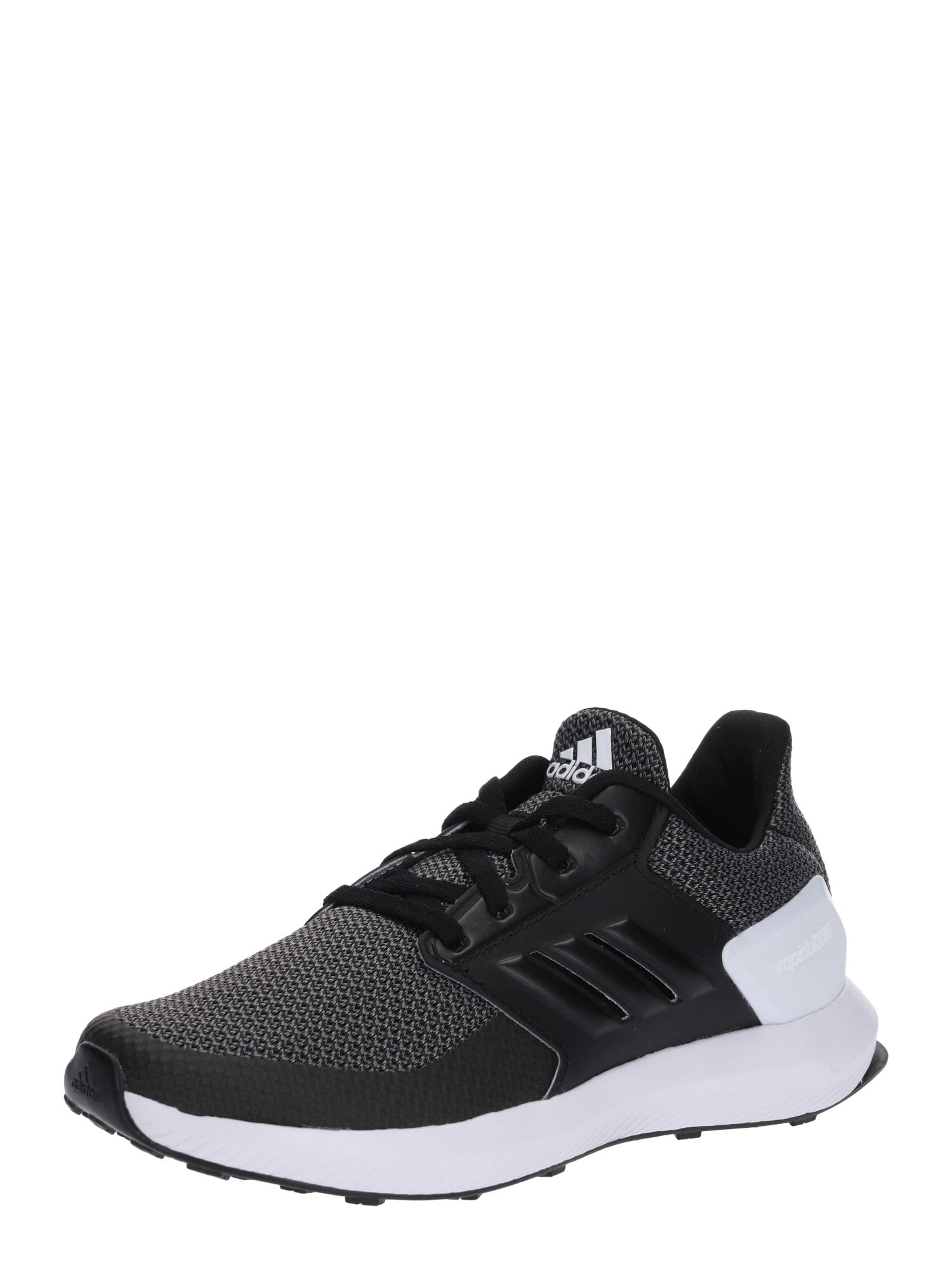 Sportovní boty RapidaRun K šedá černá ADIDAS PERFORMANCE