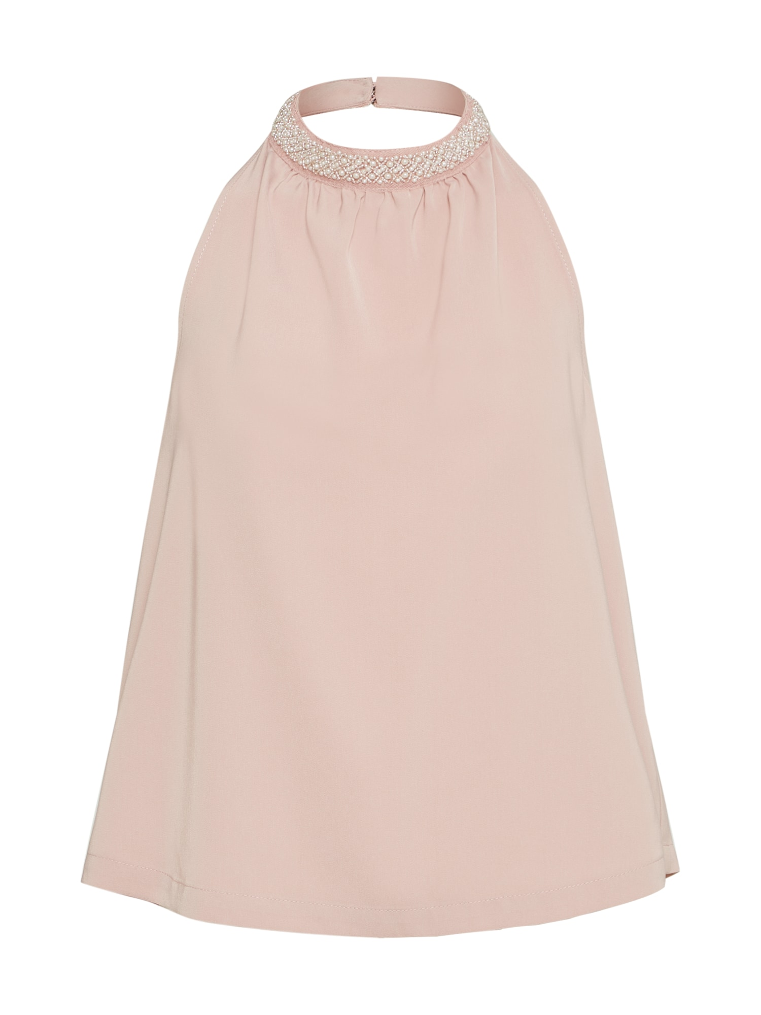 Top SCARLETT SL HALTERNECK WVN růžová perlově bílá ONLY