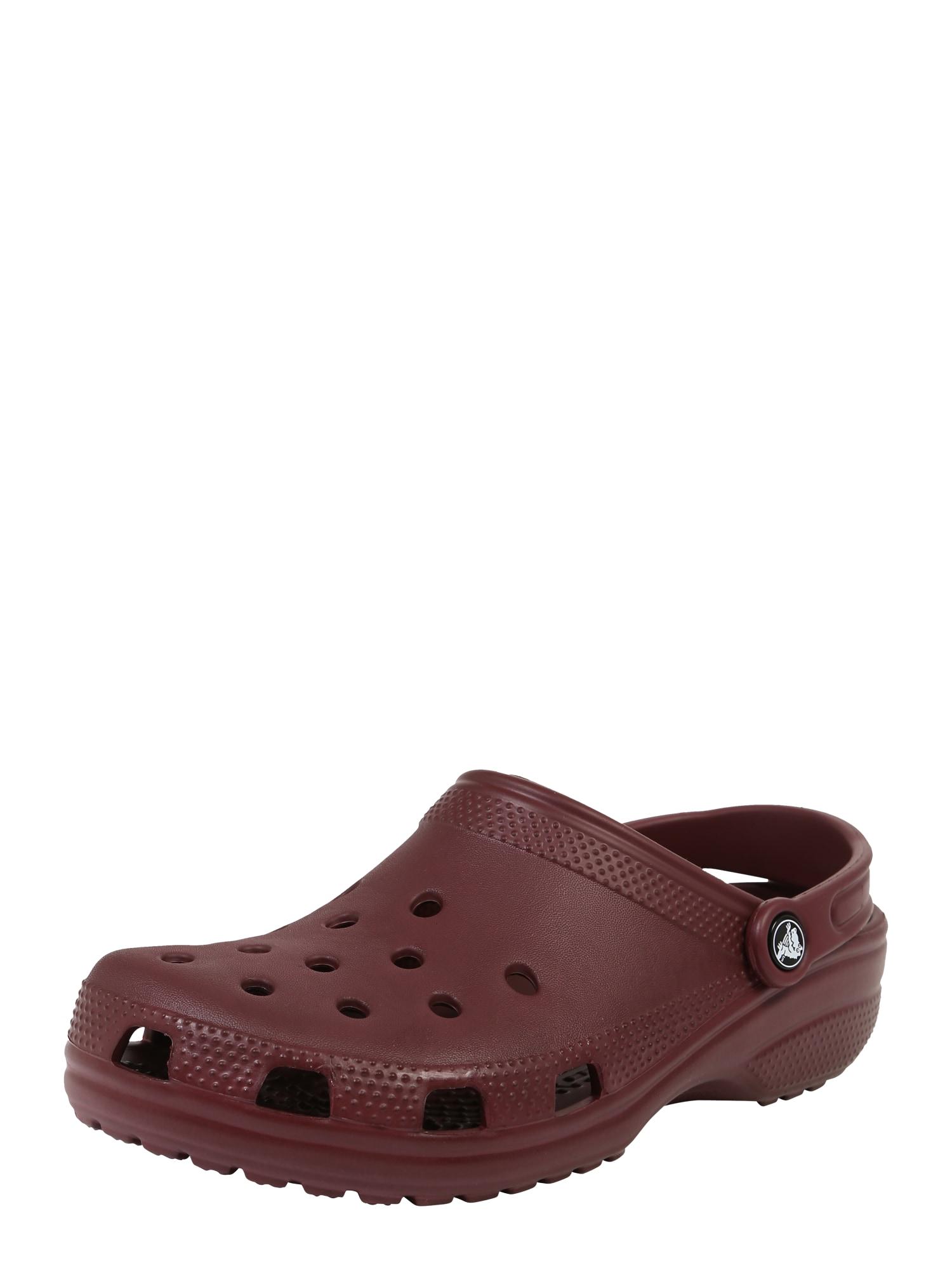 Pantofle Classic burgundská červeň Crocs