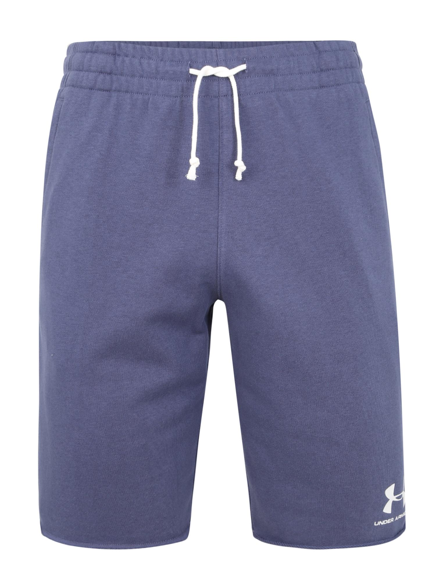 UNDER ARMOUR Sportovní kalhoty 'TERRY'  modrá / bílá