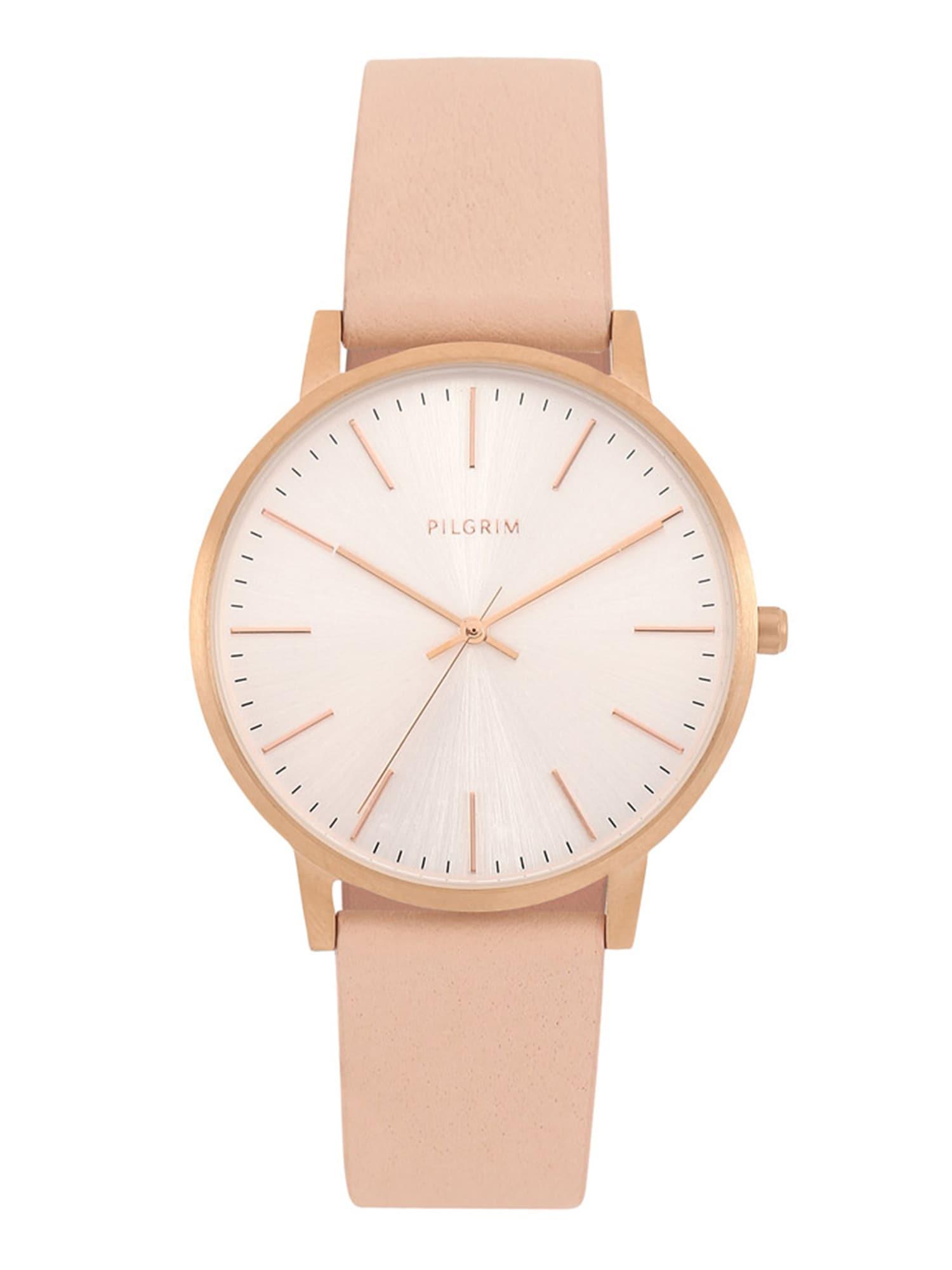 Analogové hodinky Brisa bronzová růžová Pilgrim