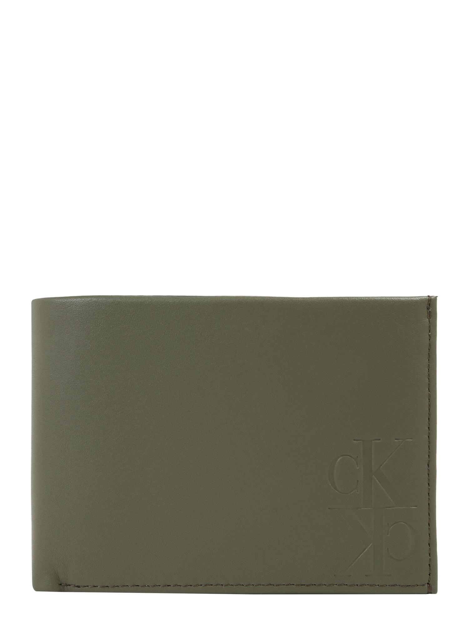 Calvin Klein Jeans Peněženka 'MIRROR MONOGRAM BILLFOLD EXTRA'  olivová