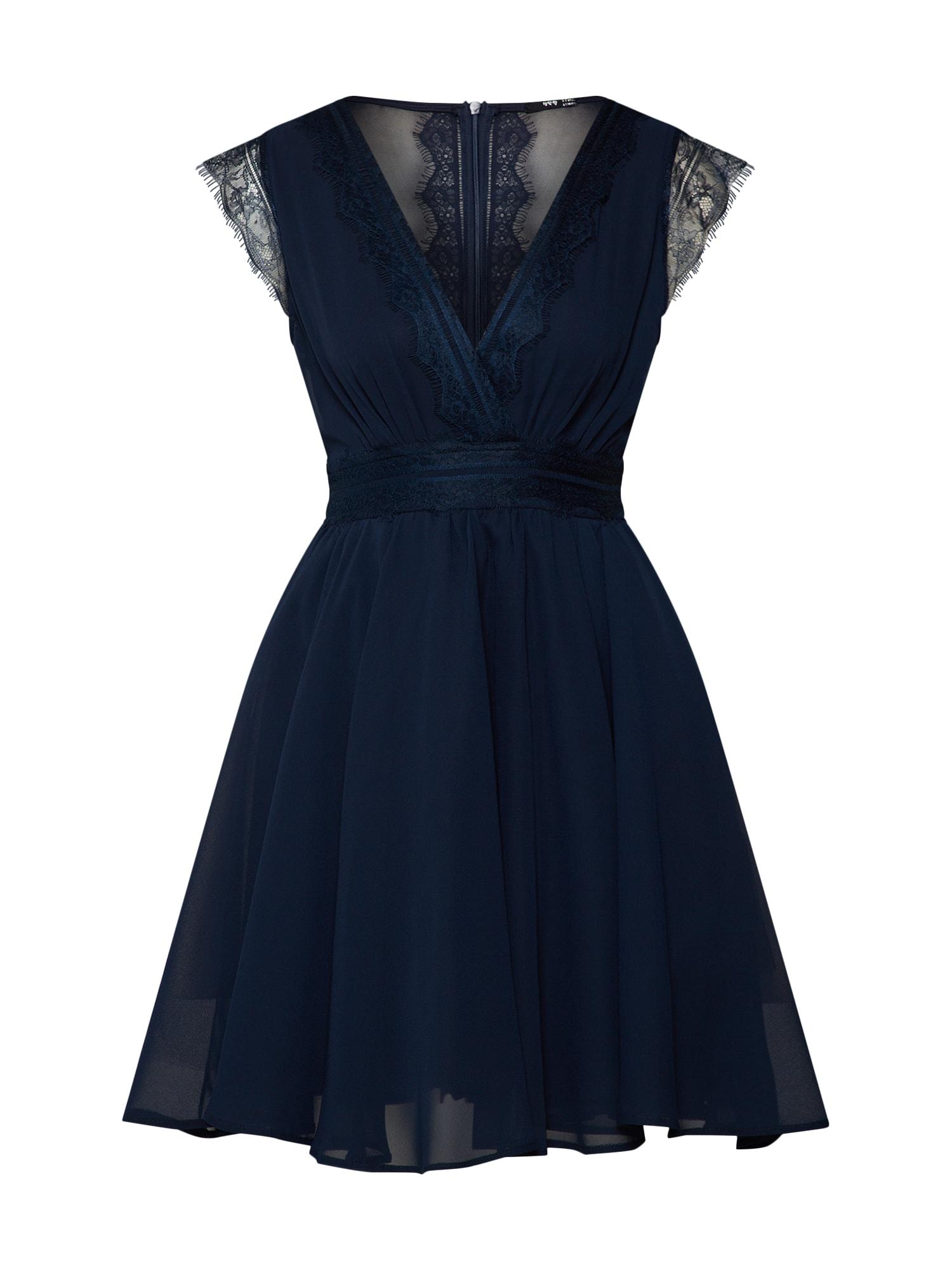 Koktejlové šaty PERRY MIDI námořnická modř TFNC