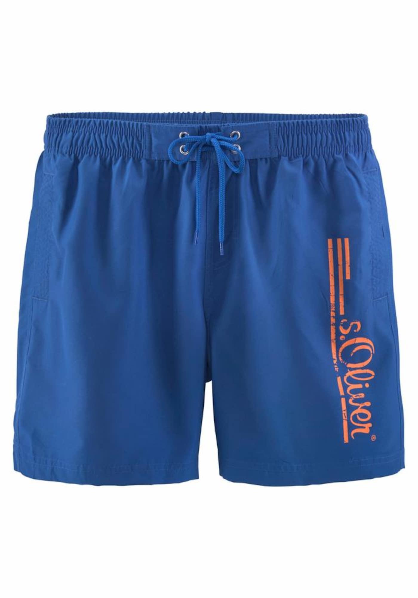 Plavecké šortky královská modrá korálová S.Oliver RED LABEL