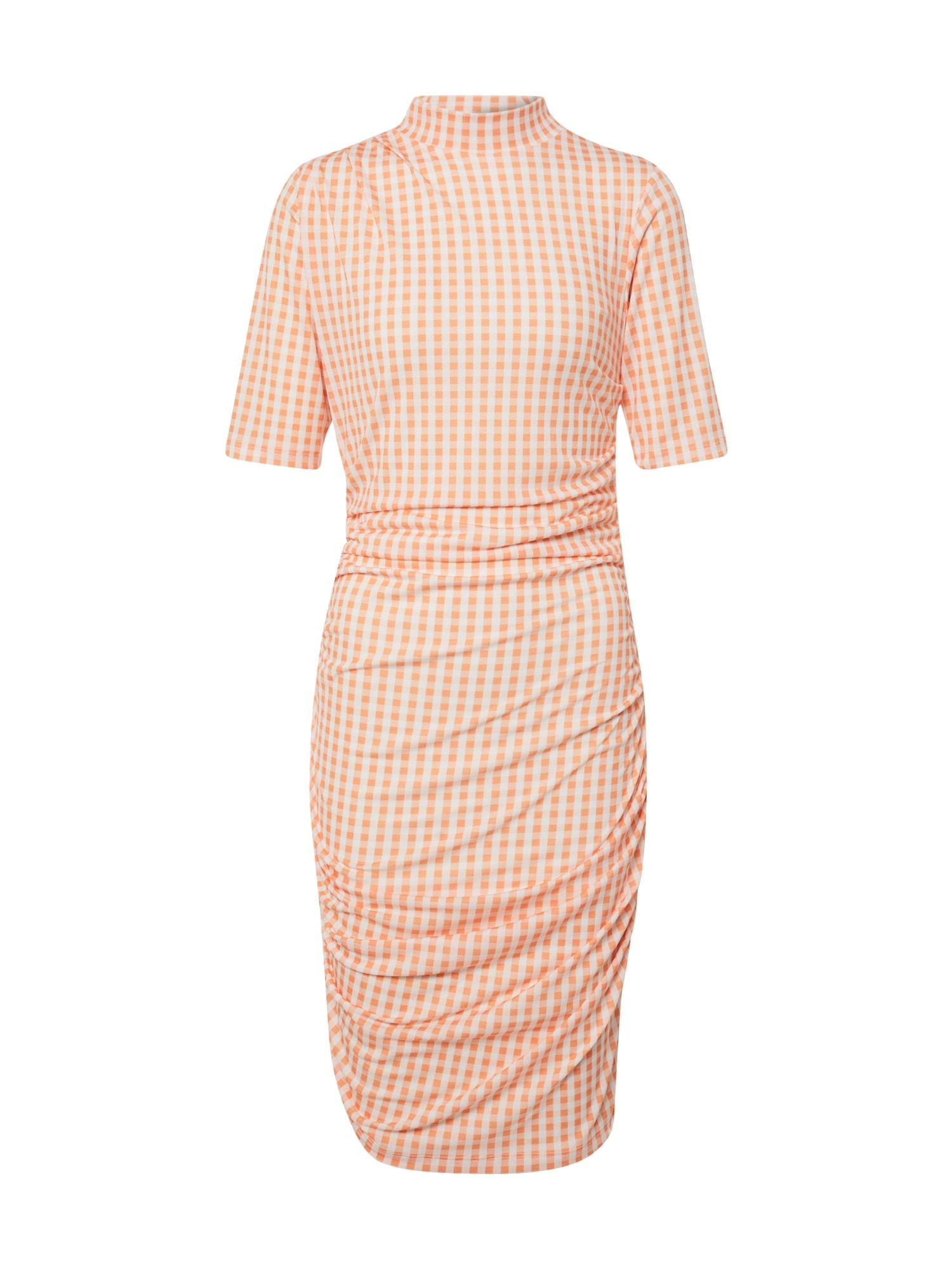 EDITED Šaty 'Nessa'  krémová / oranžová