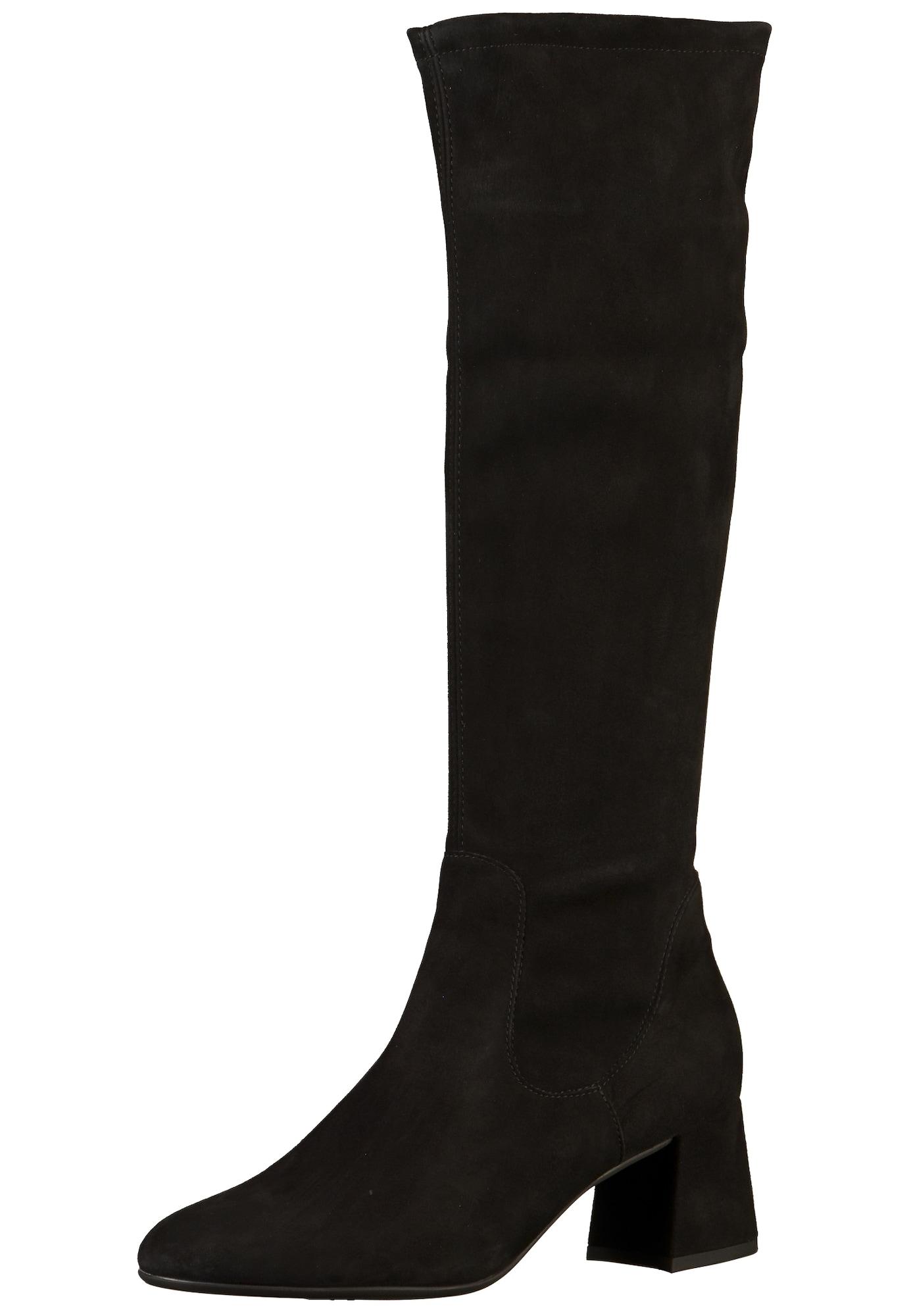 PETER KAISER, Dames Overknee laarzen, zwart