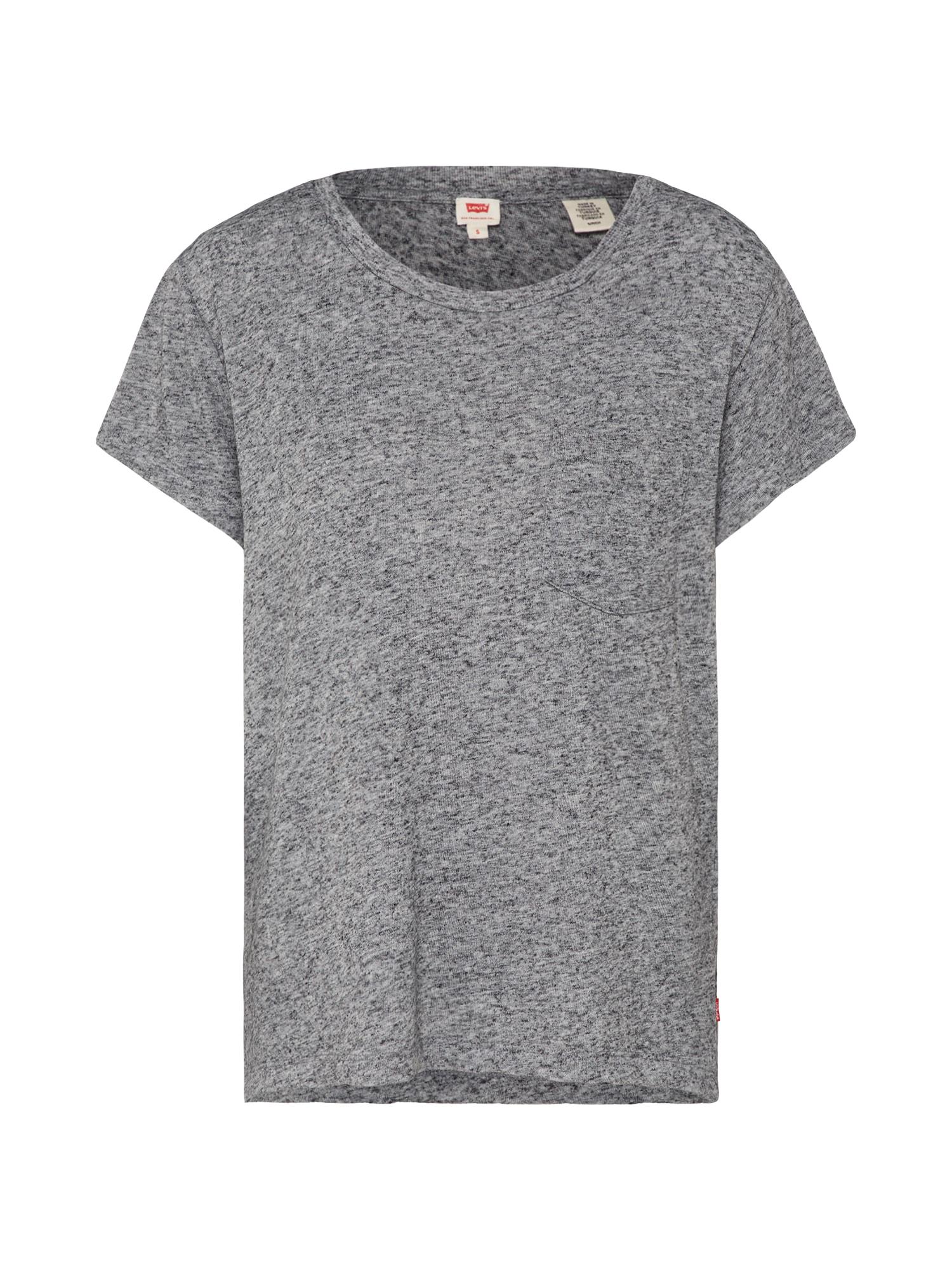 LEVI'S Dames Shirt The perfect pocket tee grijs gemêleerd