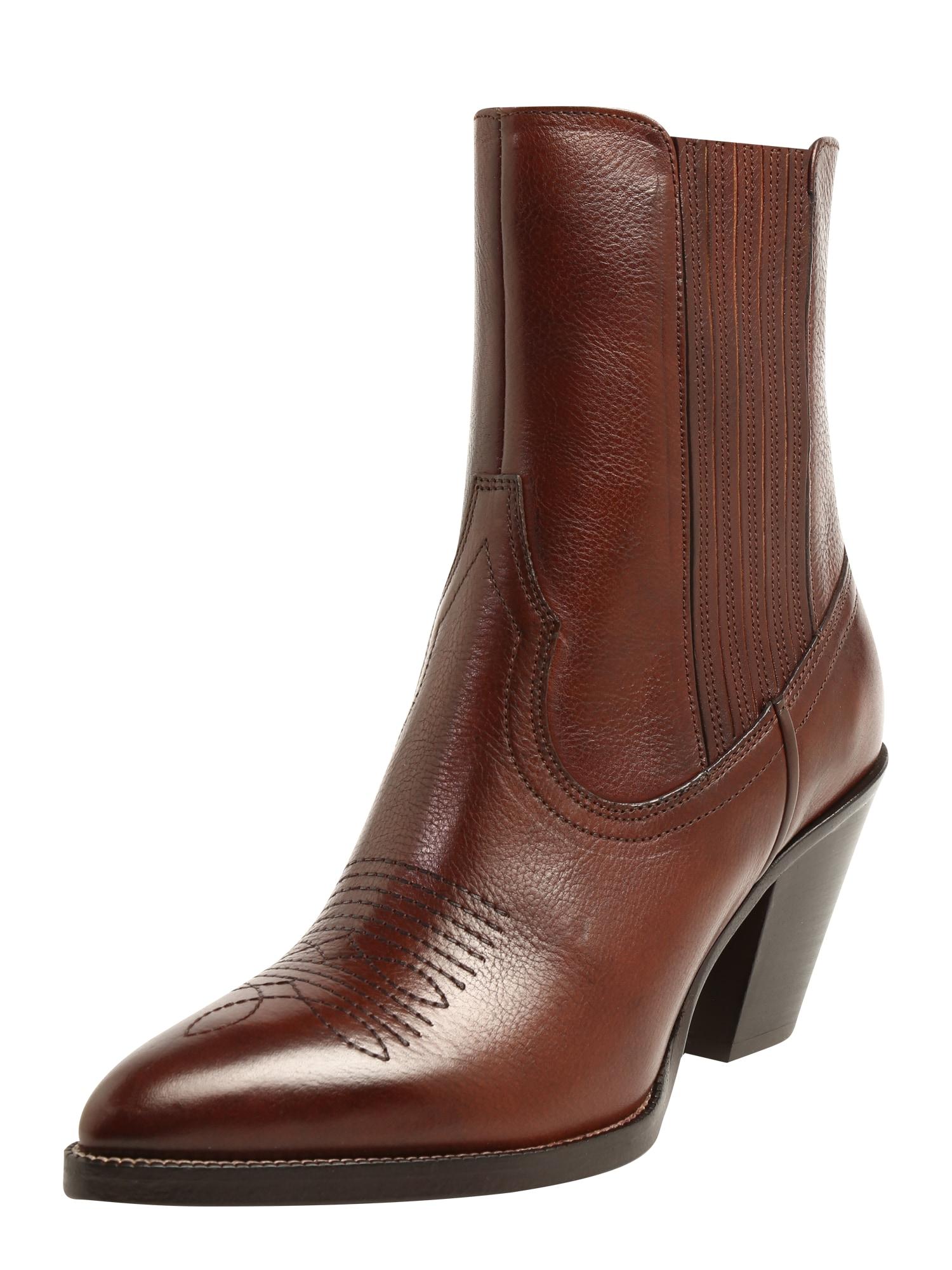 Kovbojské boty LOWREY koňaková POLO RALPH LAUREN
