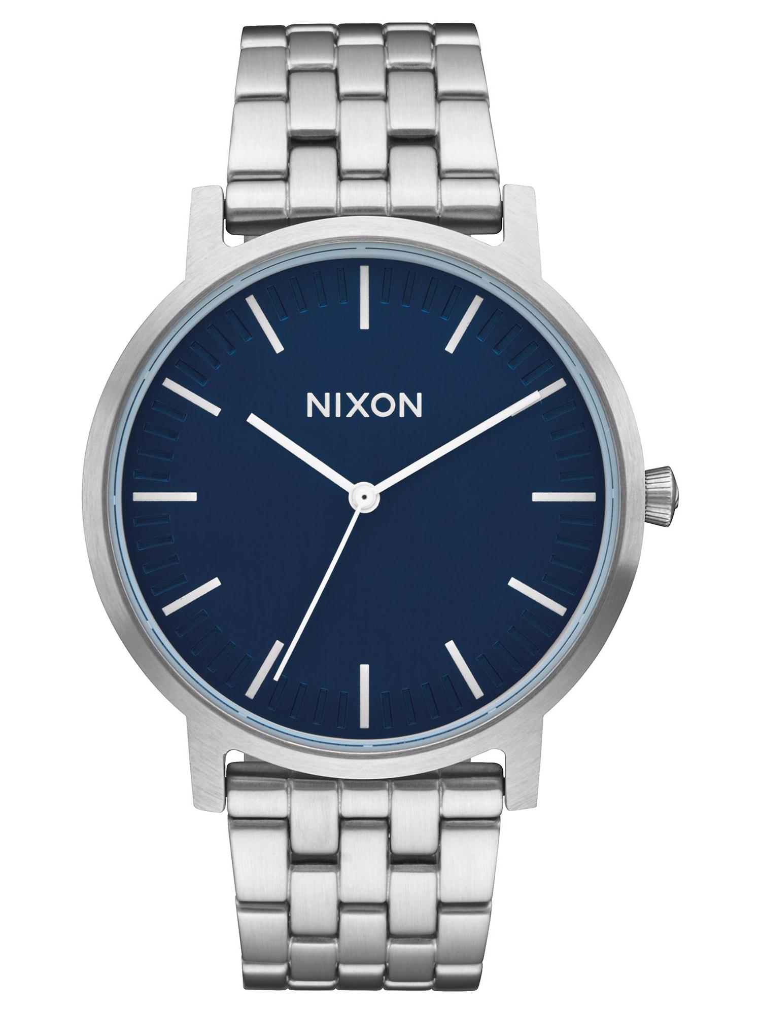 Analogové hodinky Porter modrá stříbrná Nixon