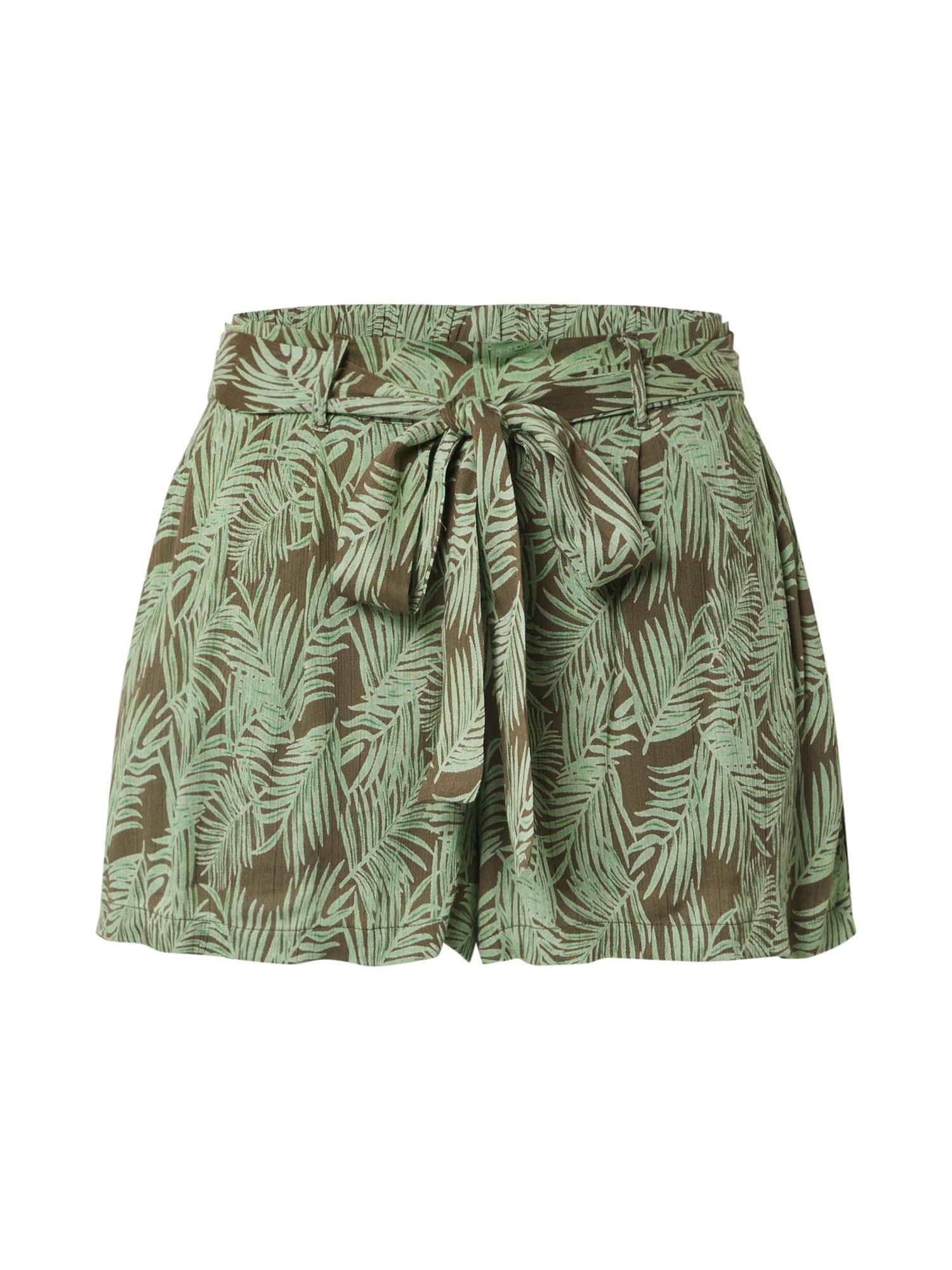 Noisy May Kalhoty 'FLORA'  olivová / růžová / pink