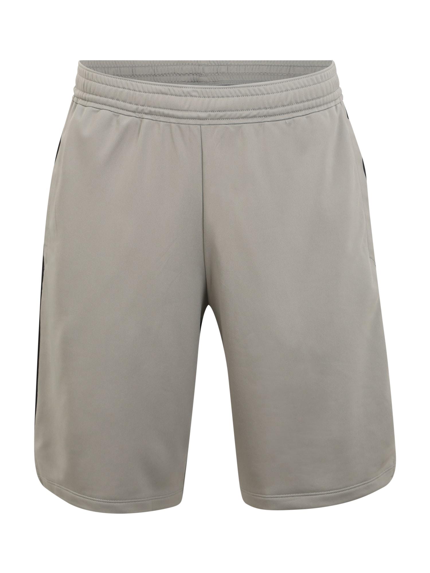 UNDER ARMOUR Sportovní kalhoty 'MK1 Graphic Shorts'  šedá / černá