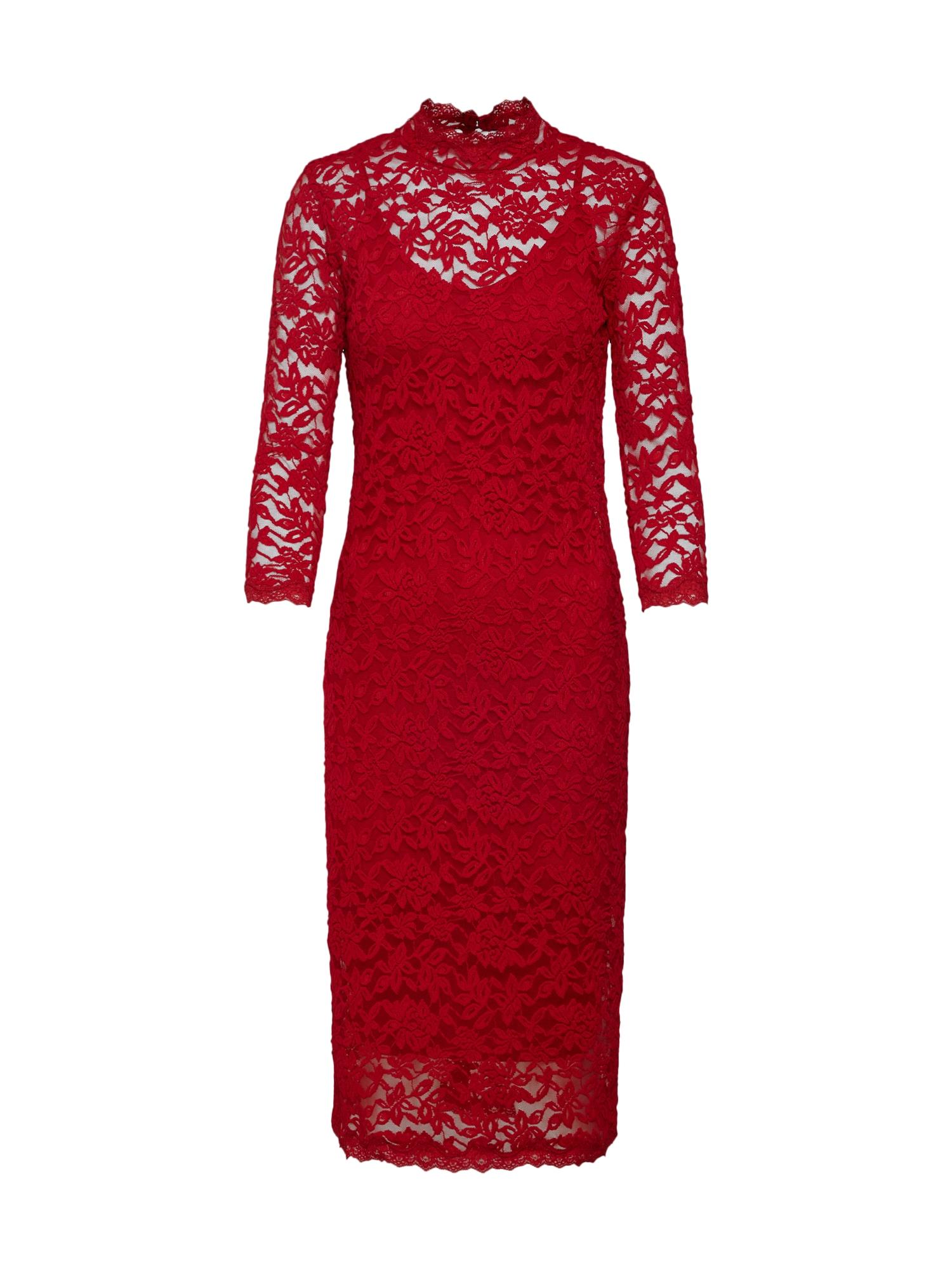 Koktejlové šaty vínově červená Rosemunde